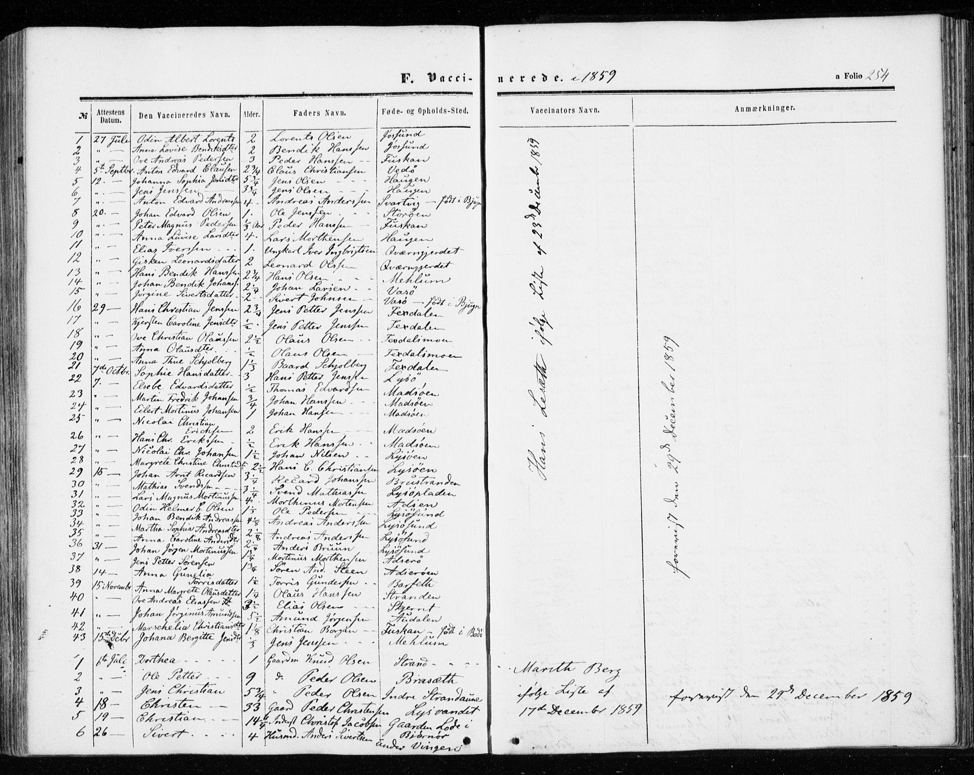 SAT, Ministerialprotokoller, klokkerbøker og fødselsregistre - Sør-Trøndelag, 655/L0678: Ministerialbok nr. 655A07, 1861-1873, s. 254