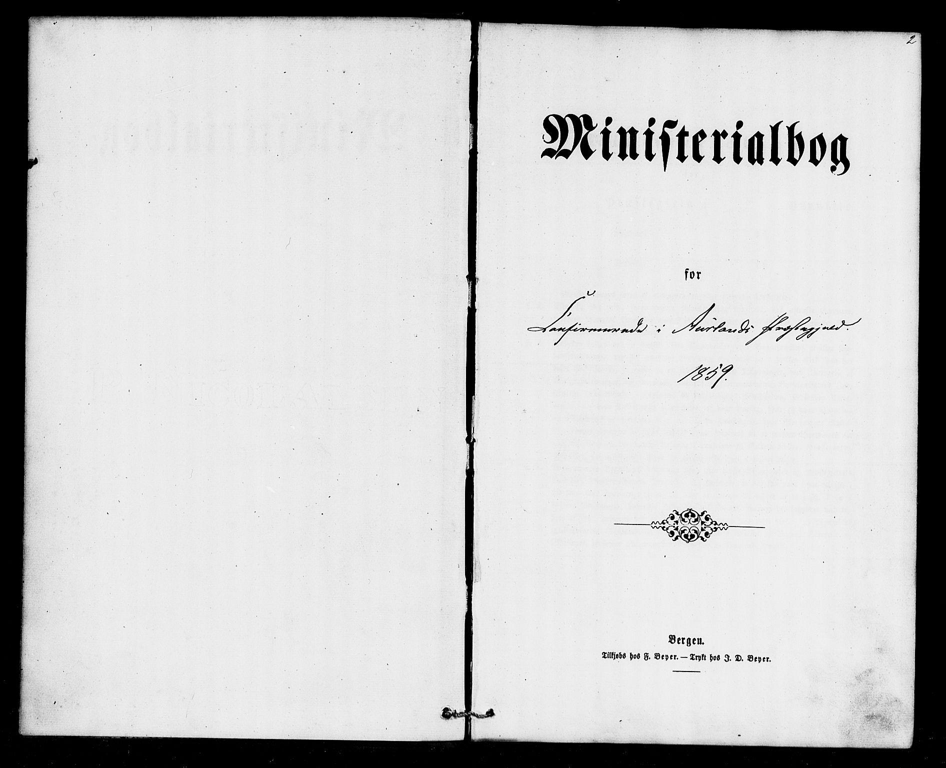 SAB, Aurland Sokneprestembete*, Ministerialbok nr. A 9, 1859-1879, s. 2
