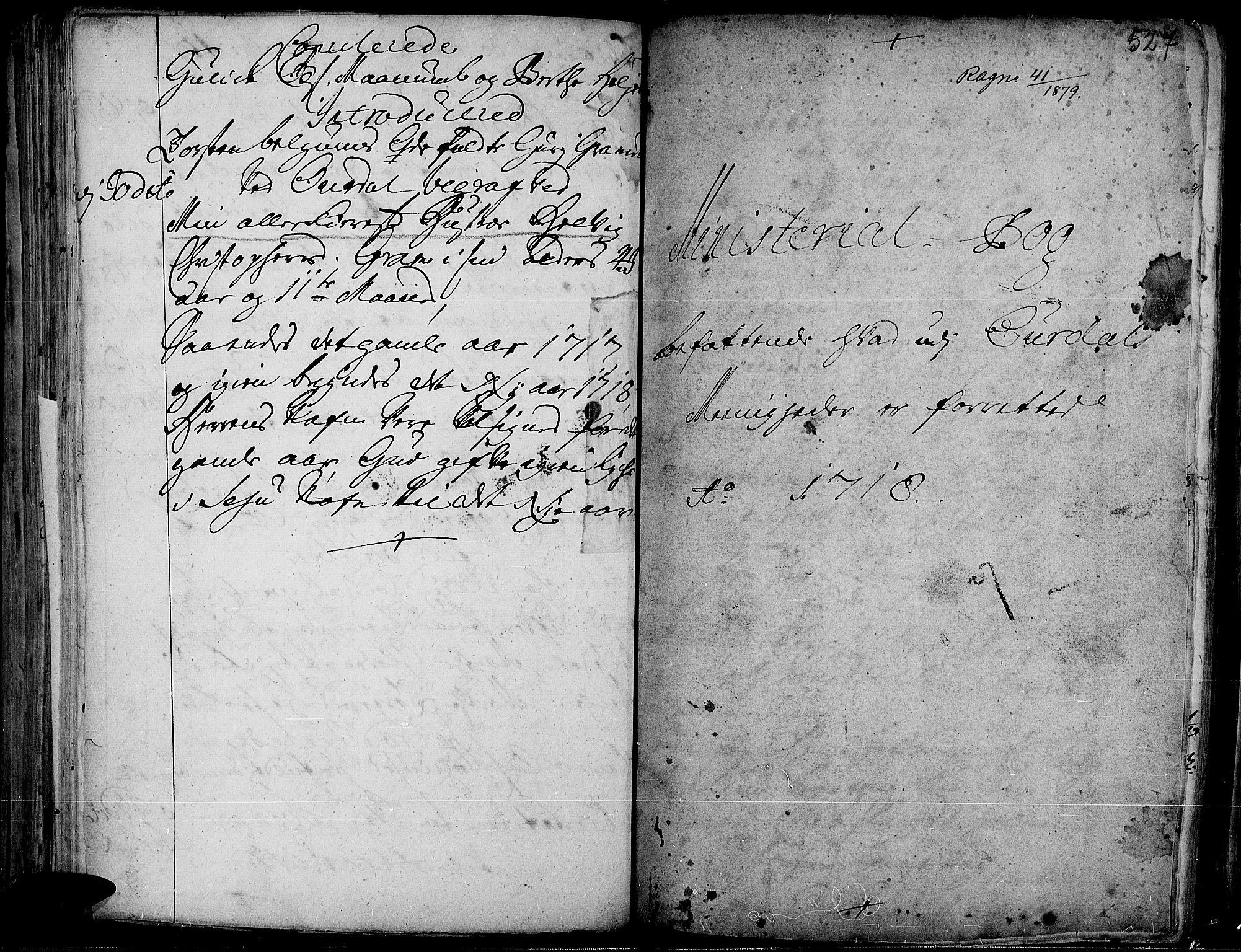 SAH, Aurdal prestekontor, Ministerialbok nr. 1-3, 1692-1730, s. 527