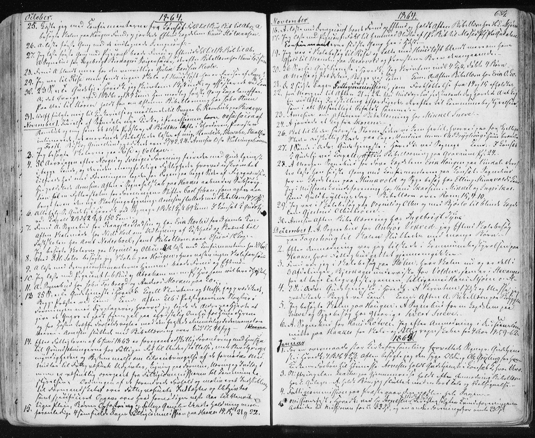 SAT, Ministerialprotokoller, klokkerbøker og fødselsregistre - Sør-Trøndelag, 678/L0899: Ministerialbok nr. 678A08, 1848-1872, s. 684