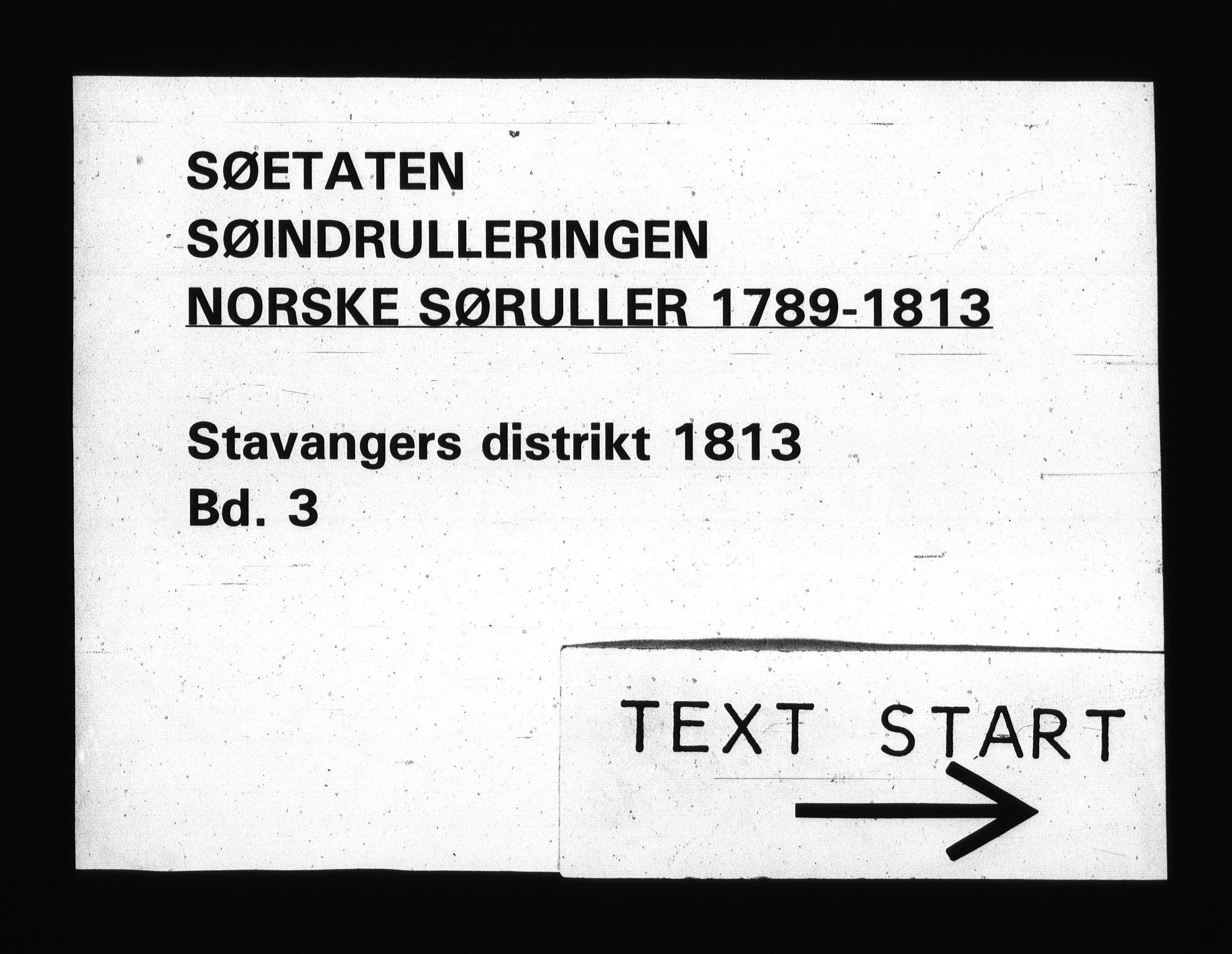 RA, Sjøetaten, F/L0304: Stavanger distrikt, bind 3, 1813