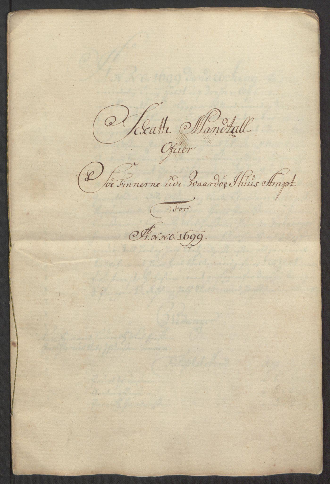 RA, Rentekammeret inntil 1814, Reviderte regnskaper, Fogderegnskap, R69/L4851: Fogderegnskap Finnmark/Vardøhus, 1691-1700, s. 388