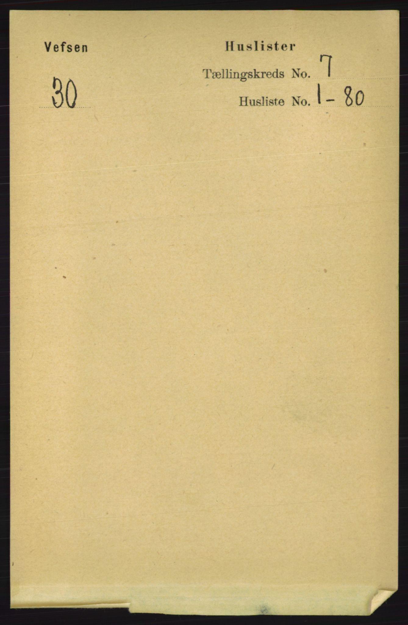 RA, Folketelling 1891 for 1824 Vefsn herred, 1891, s. 3572