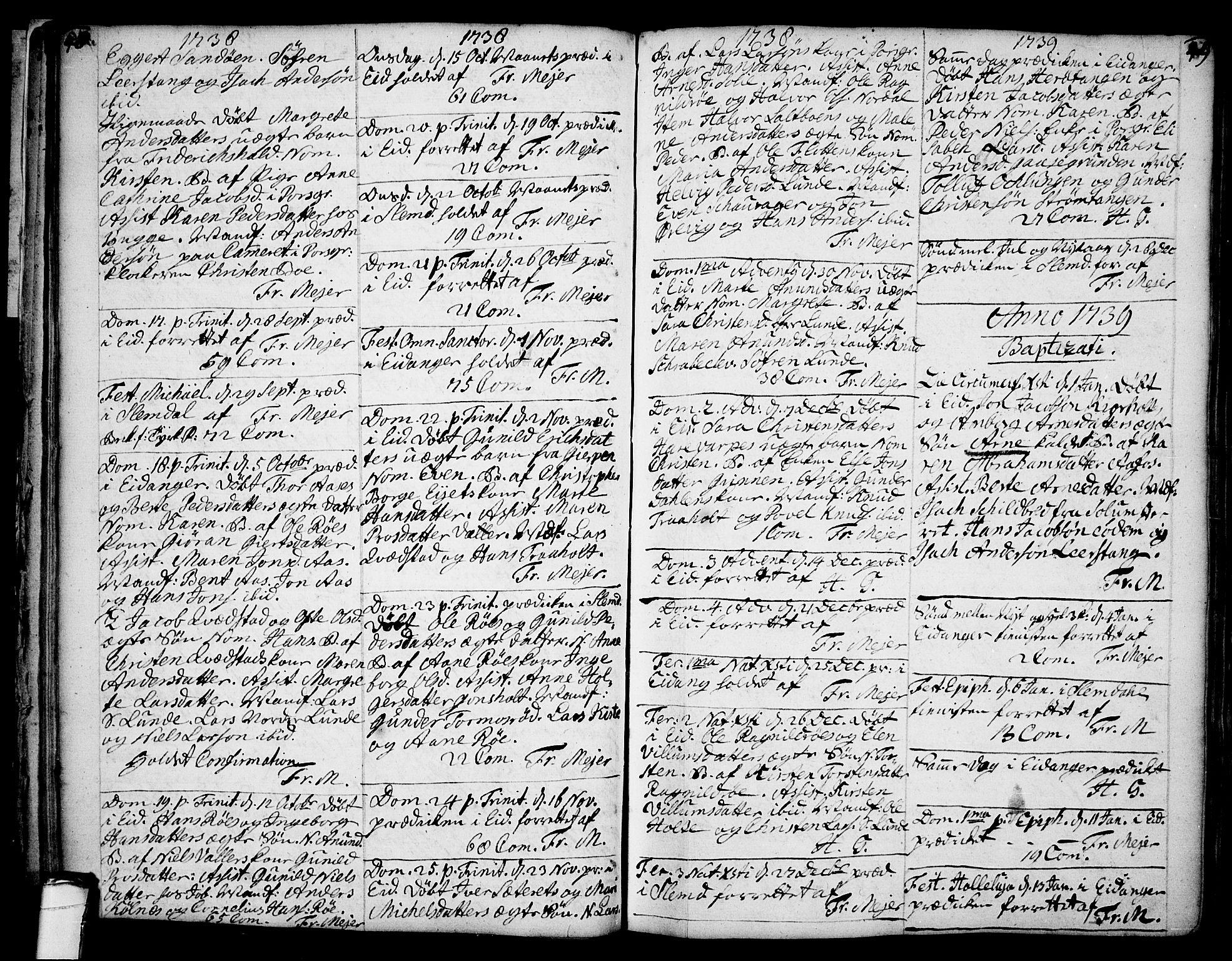 SAKO, Eidanger kirkebøker, F/Fa/L0004: Ministerialbok nr. 4, 1733-1759, s. 48-49