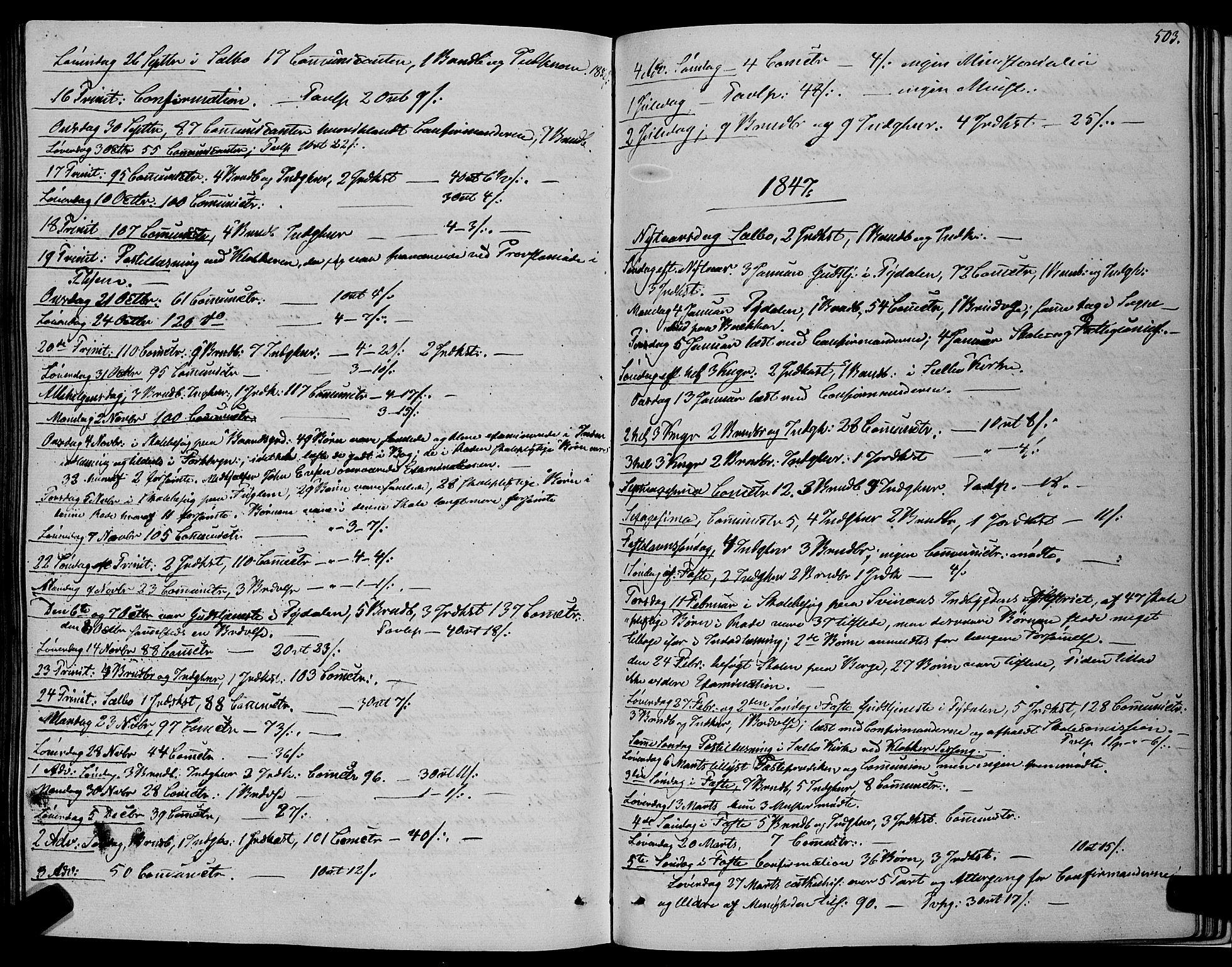 SAT, Ministerialprotokoller, klokkerbøker og fødselsregistre - Sør-Trøndelag, 695/L1145: Ministerialbok nr. 695A06 /1, 1843-1859, s. 503