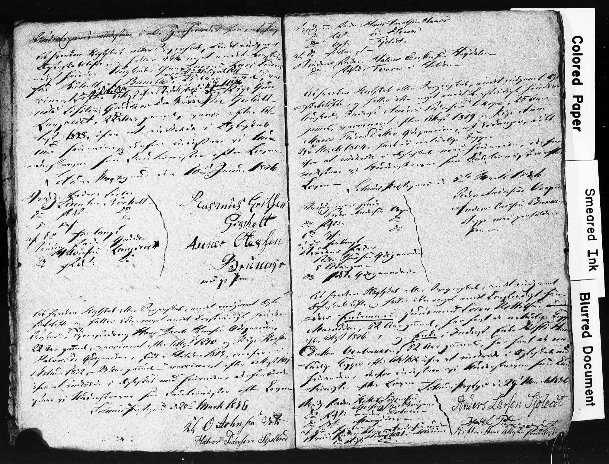 SAKO, Solum kirkebøker, H/Hc/L0001: Forlovererklæringer nr. 1, 1834-1843
