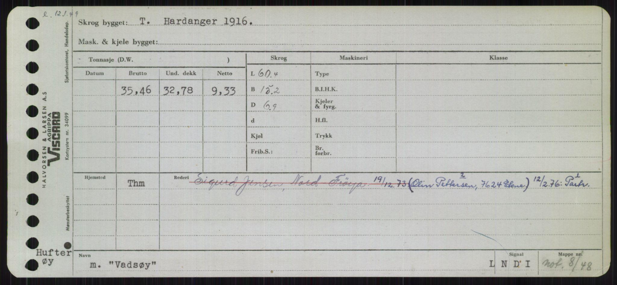 RA, Sjøfartsdirektoratet med forløpere, Skipsmålingen, H/Ha/L0006: Fartøy, Sver-Å, s. 97