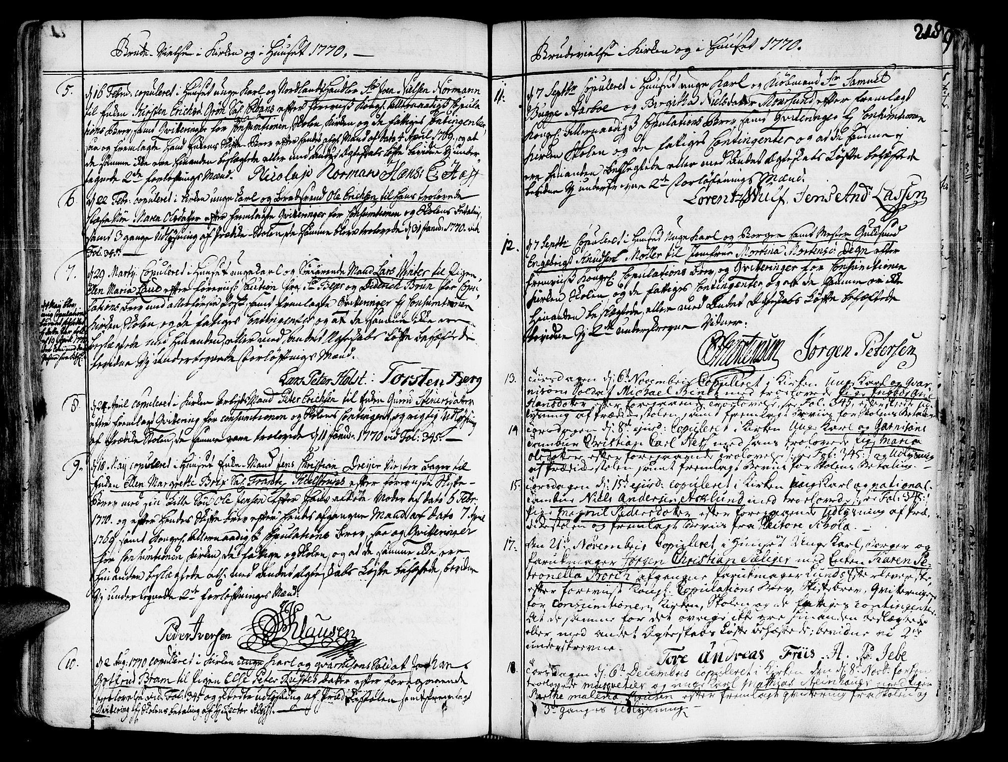 SAT, Ministerialprotokoller, klokkerbøker og fødselsregistre - Sør-Trøndelag, 602/L0103: Ministerialbok nr. 602A01, 1732-1774, s. 218