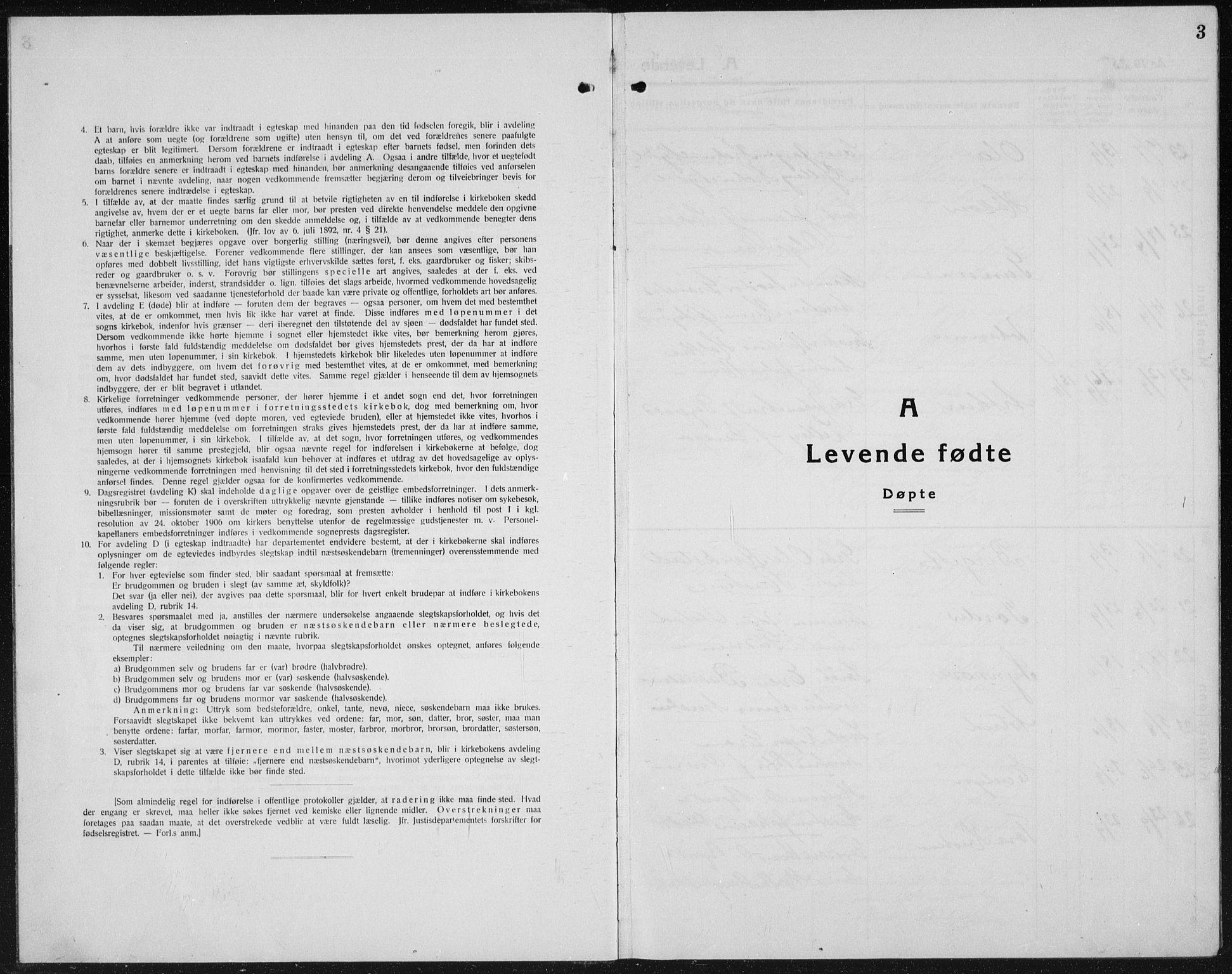 SAH, Kolbu prestekontor, Klokkerbok nr. 2, 1925-1942, s. 3