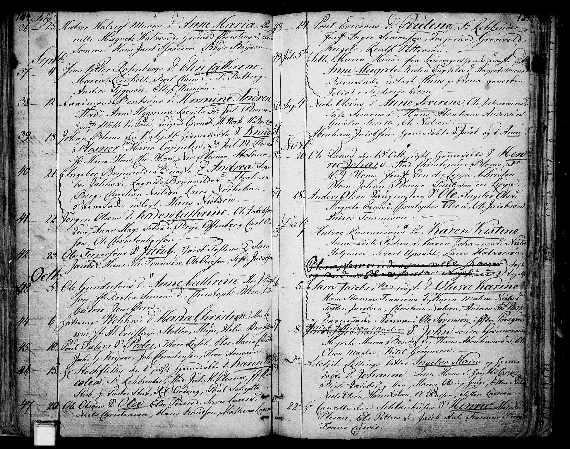 SAKO, Skien kirkebøker, F/Fa/L0004: Ministerialbok nr. 4, 1792-1814, s. 184-185