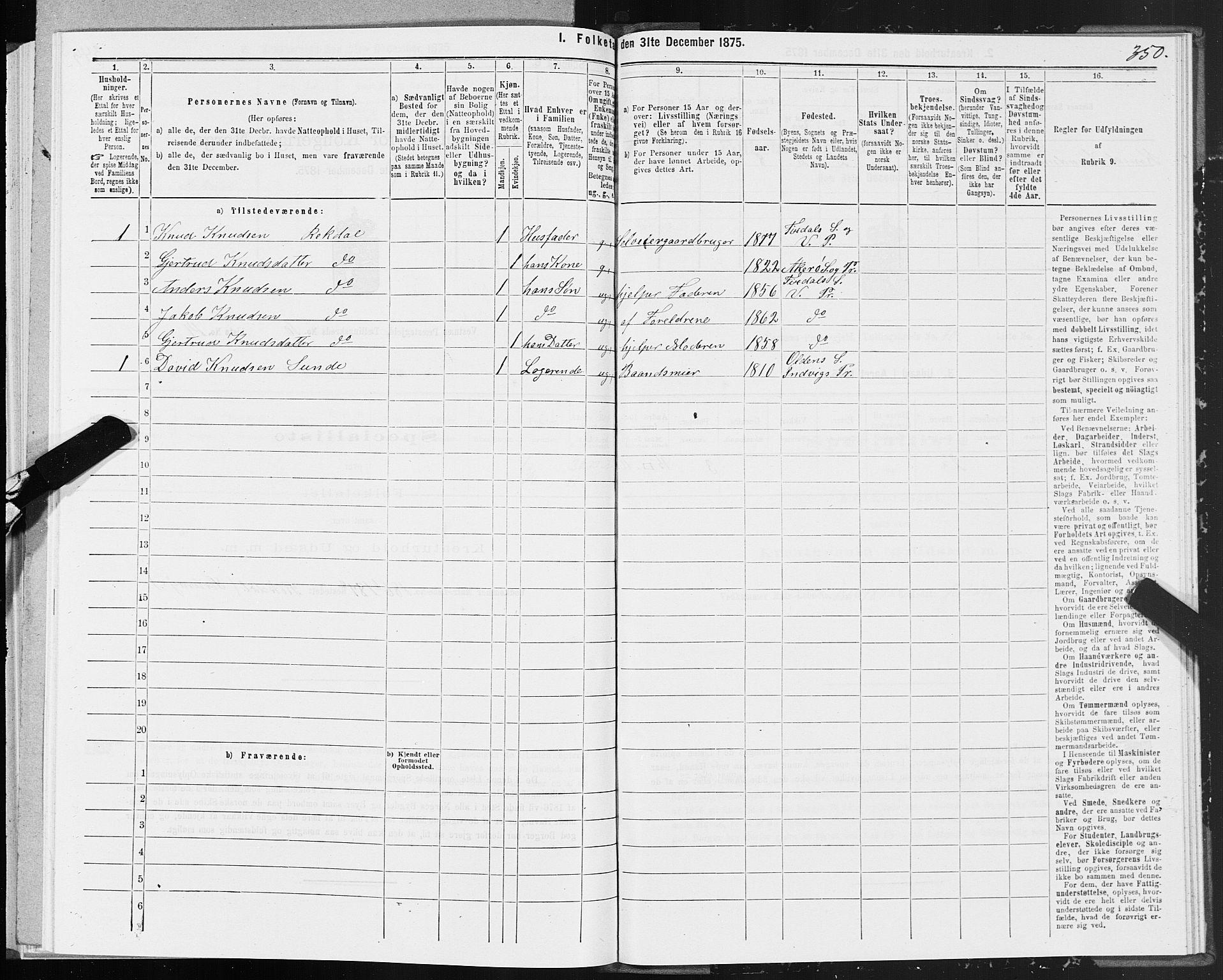 SAT, Folketelling 1875 for 1535P Vestnes prestegjeld, 1875, s. 3350