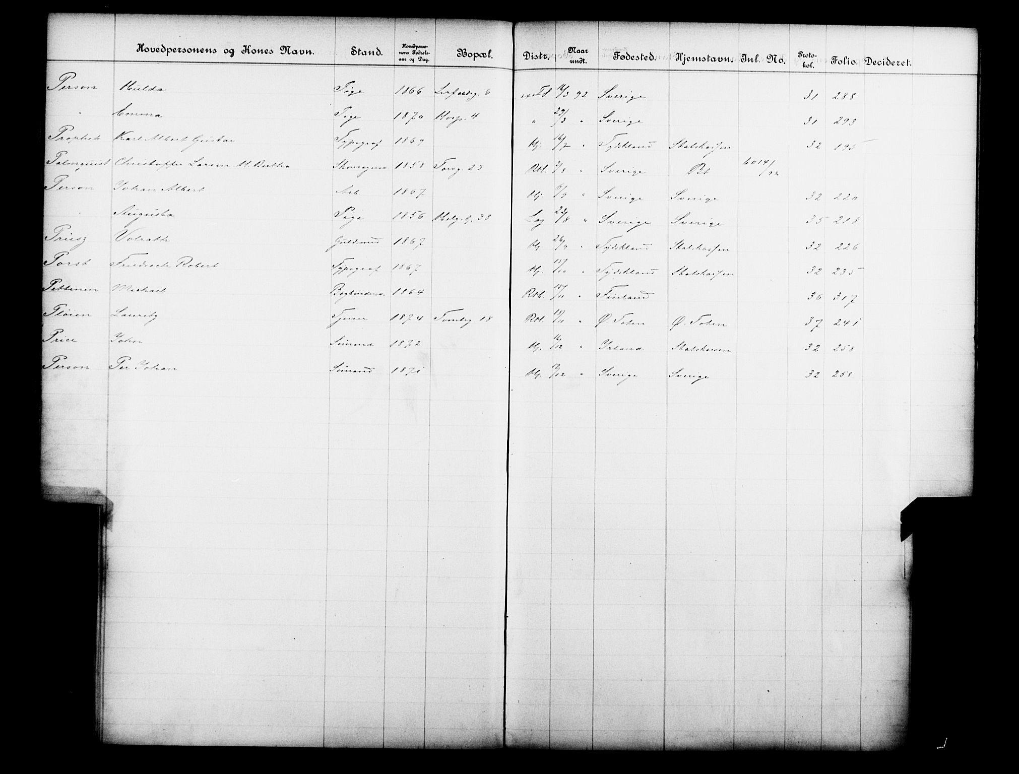 OBA, Fattigvesenet, Fb/L0012: Hjemstavnsregister, 1892, s. 131