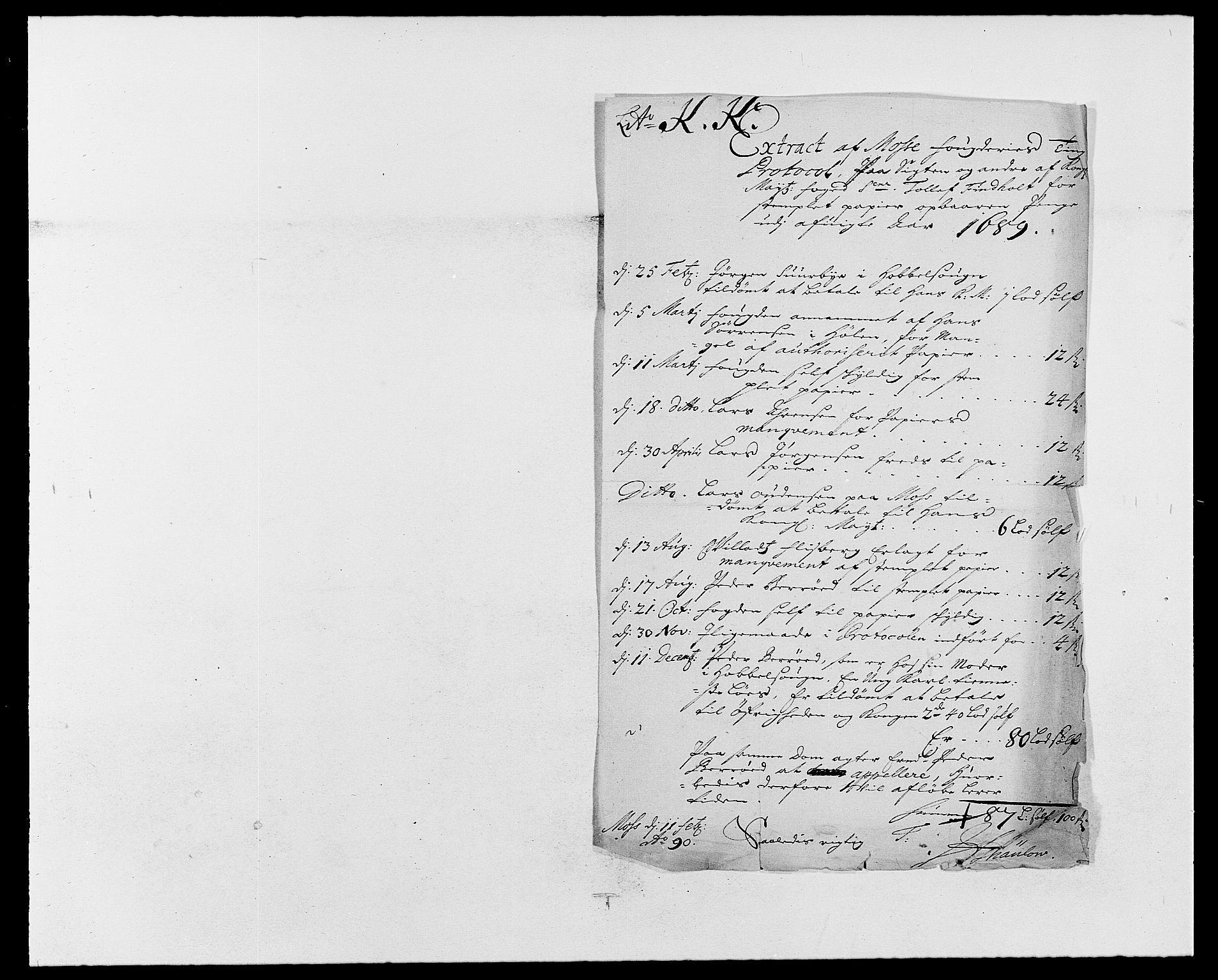 RA, Rentekammeret inntil 1814, Reviderte regnskaper, Fogderegnskap, R02/L0106: Fogderegnskap Moss og Verne kloster, 1688-1691, s. 148