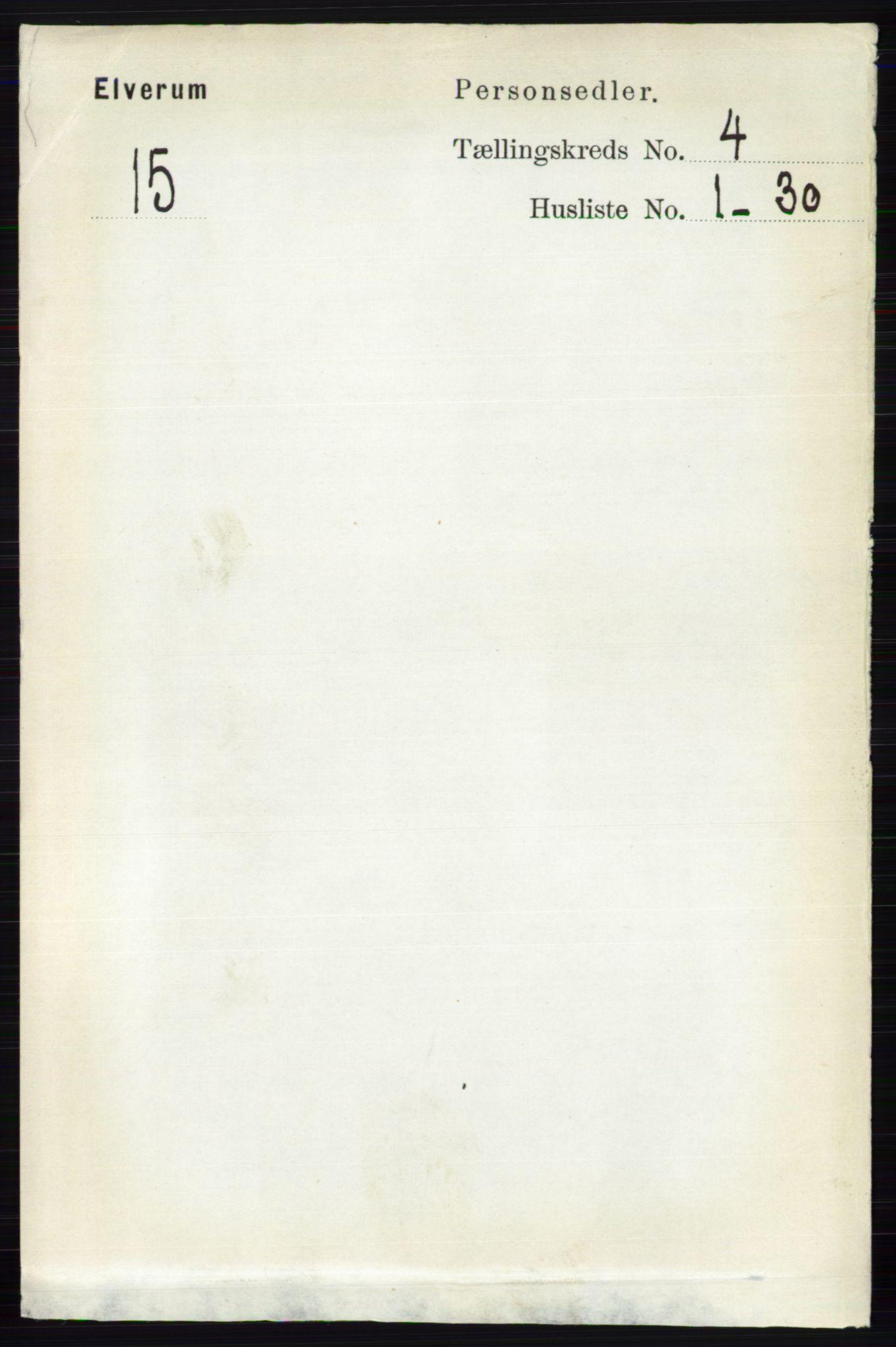 RA, Folketelling 1891 for 0427 Elverum herred, 1891, s. 2373