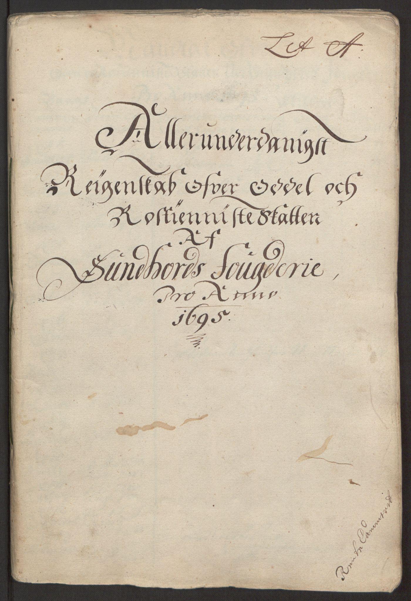 RA, Rentekammeret inntil 1814, Reviderte regnskaper, Fogderegnskap, R48/L2976: Fogderegnskap Sunnhordland og Hardanger, 1695-1696, s. 21