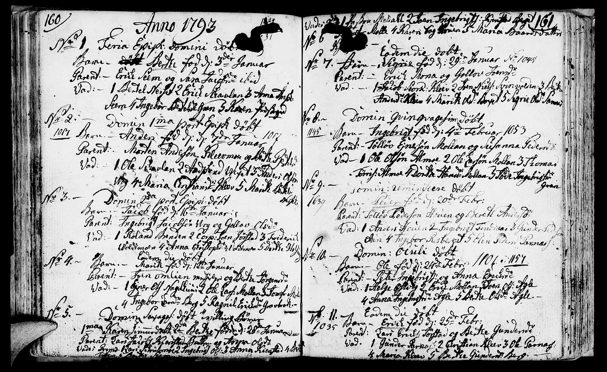 SAT, Ministerialprotokoller, klokkerbøker og fødselsregistre - Nord-Trøndelag, 749/L0468: Ministerialbok nr. 749A02, 1787-1817, s. 160-161