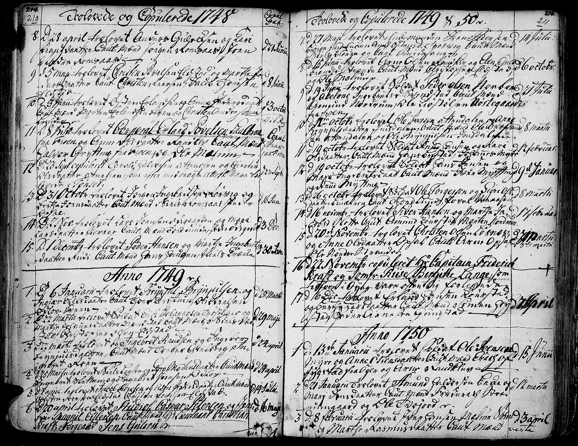 SAH, Ringebu prestekontor, Ministerialbok nr. 2, 1734-1780, s. 210-211
