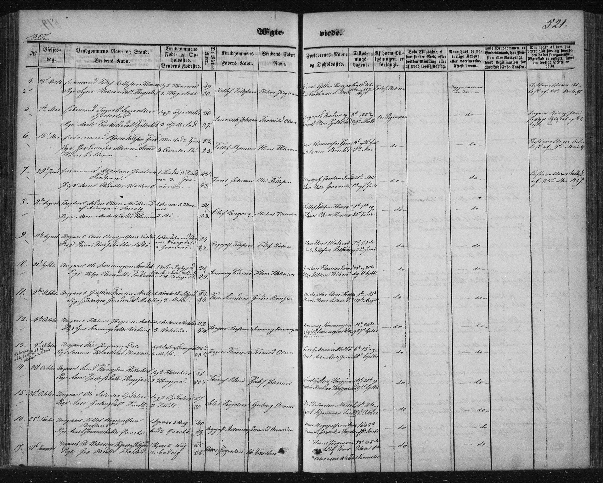 SAKO, Nissedal kirkebøker, F/Fa/L0003: Ministerialbok nr. I 3, 1846-1870, s. 520-521