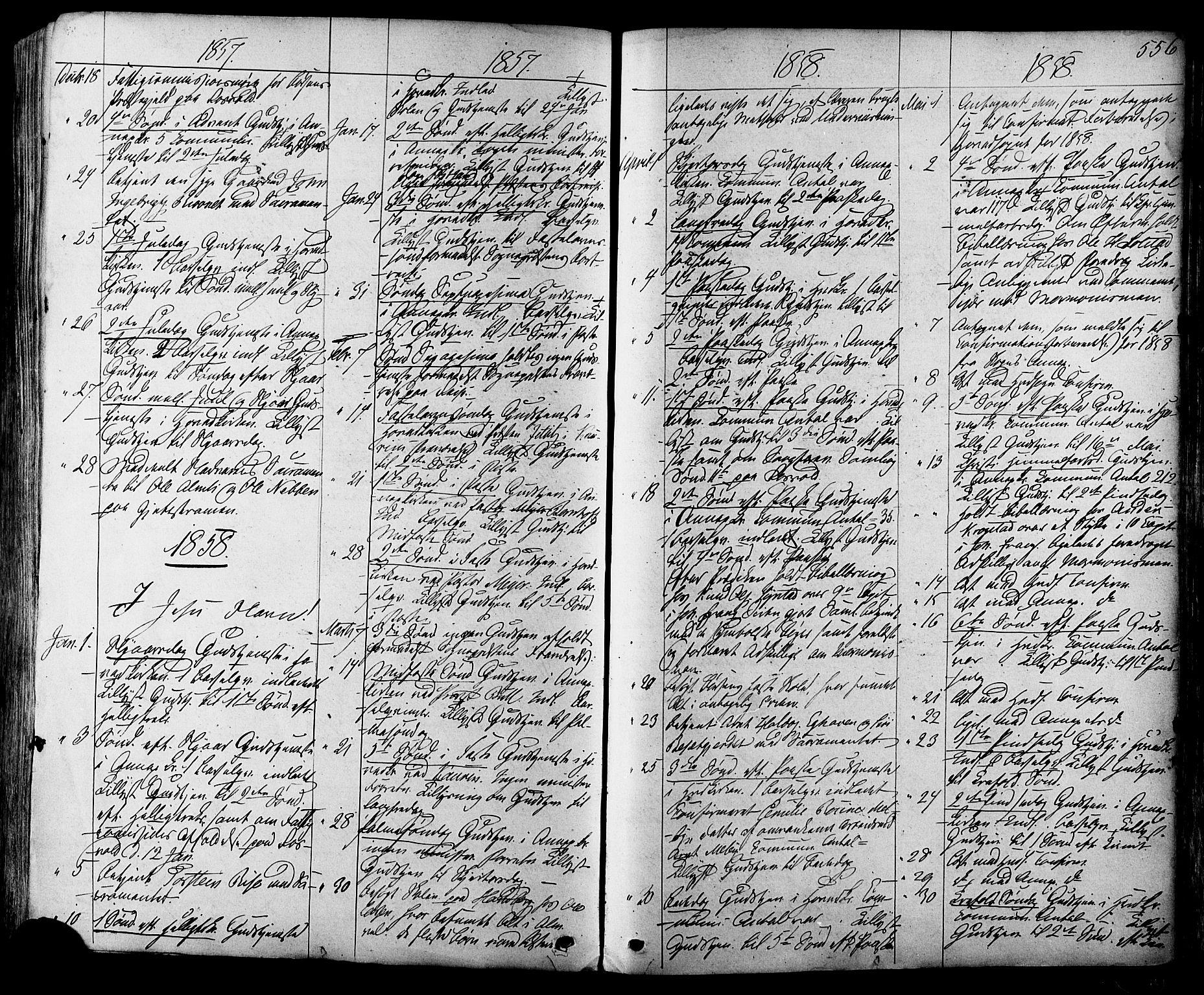 SAT, Ministerialprotokoller, klokkerbøker og fødselsregistre - Sør-Trøndelag, 665/L0772: Ministerialbok nr. 665A07, 1856-1878, s. 556