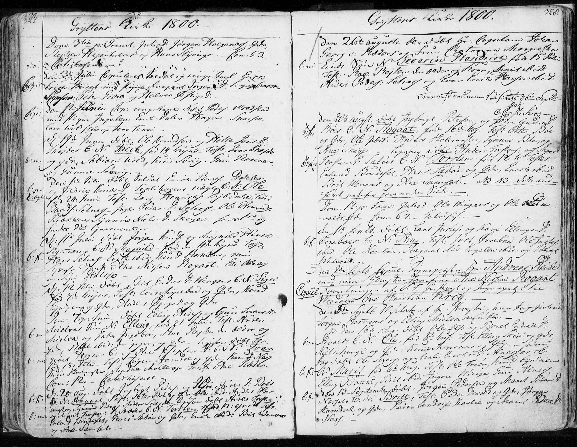 SAT, Ministerialprotokoller, klokkerbøker og fødselsregistre - Møre og Romsdal, 544/L0569: Ministerialbok nr. 544A02, 1764-1806, s. 327-328