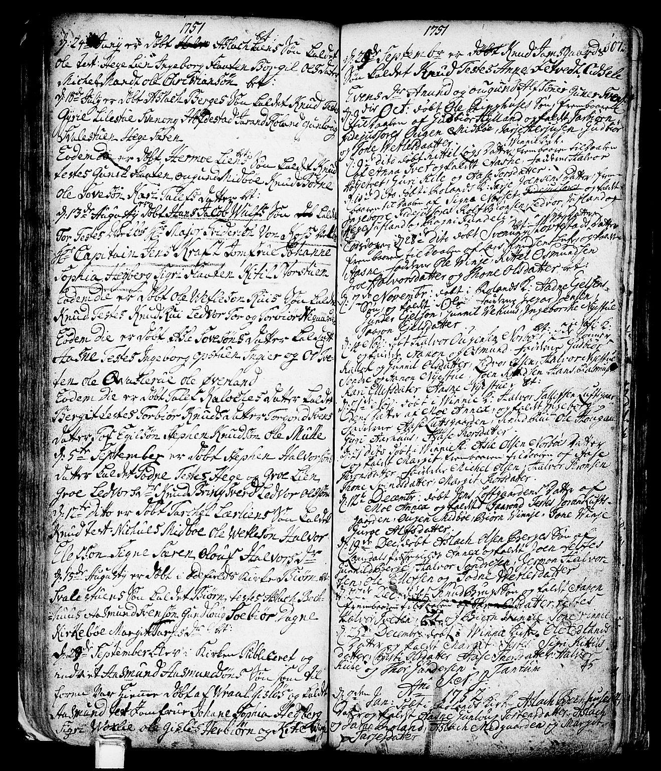 SAKO, Vinje kirkebøker, F/Fa/L0001: Ministerialbok nr. I 1, 1717-1766, s. 107