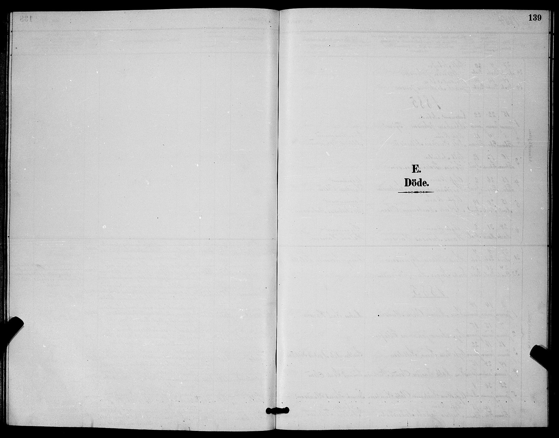 SAKO, Skåtøy kirkebøker, G/Ga/L0003: Klokkerbok nr. I 3, 1884-1898, s. 139