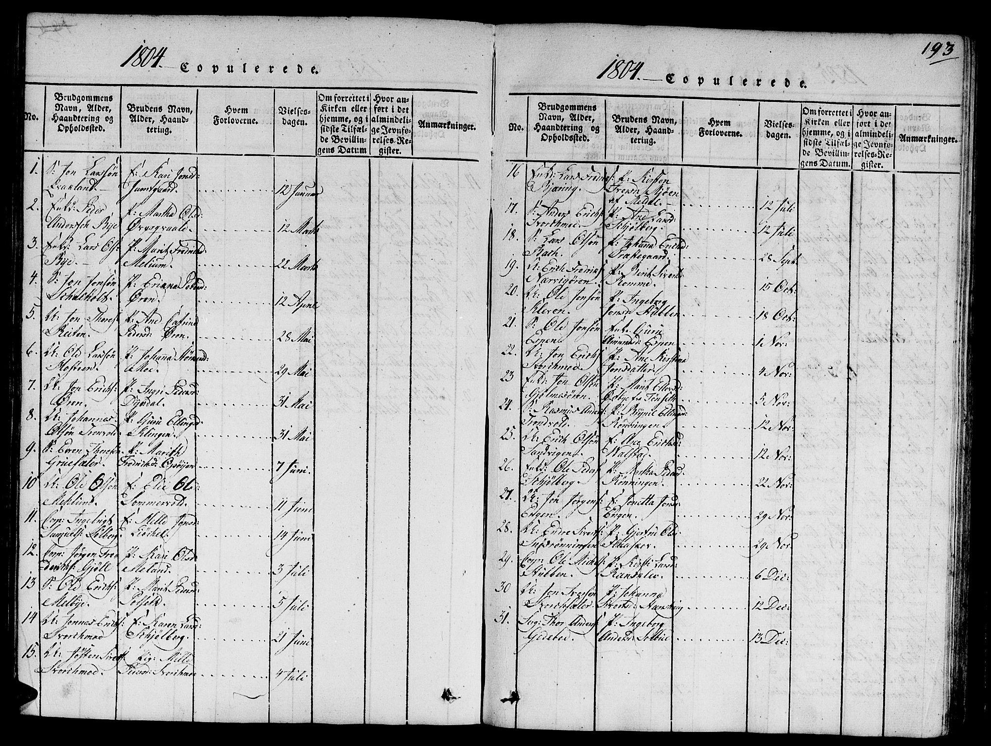 SAT, Ministerialprotokoller, klokkerbøker og fødselsregistre - Sør-Trøndelag, 668/L0803: Ministerialbok nr. 668A03, 1800-1826, s. 193