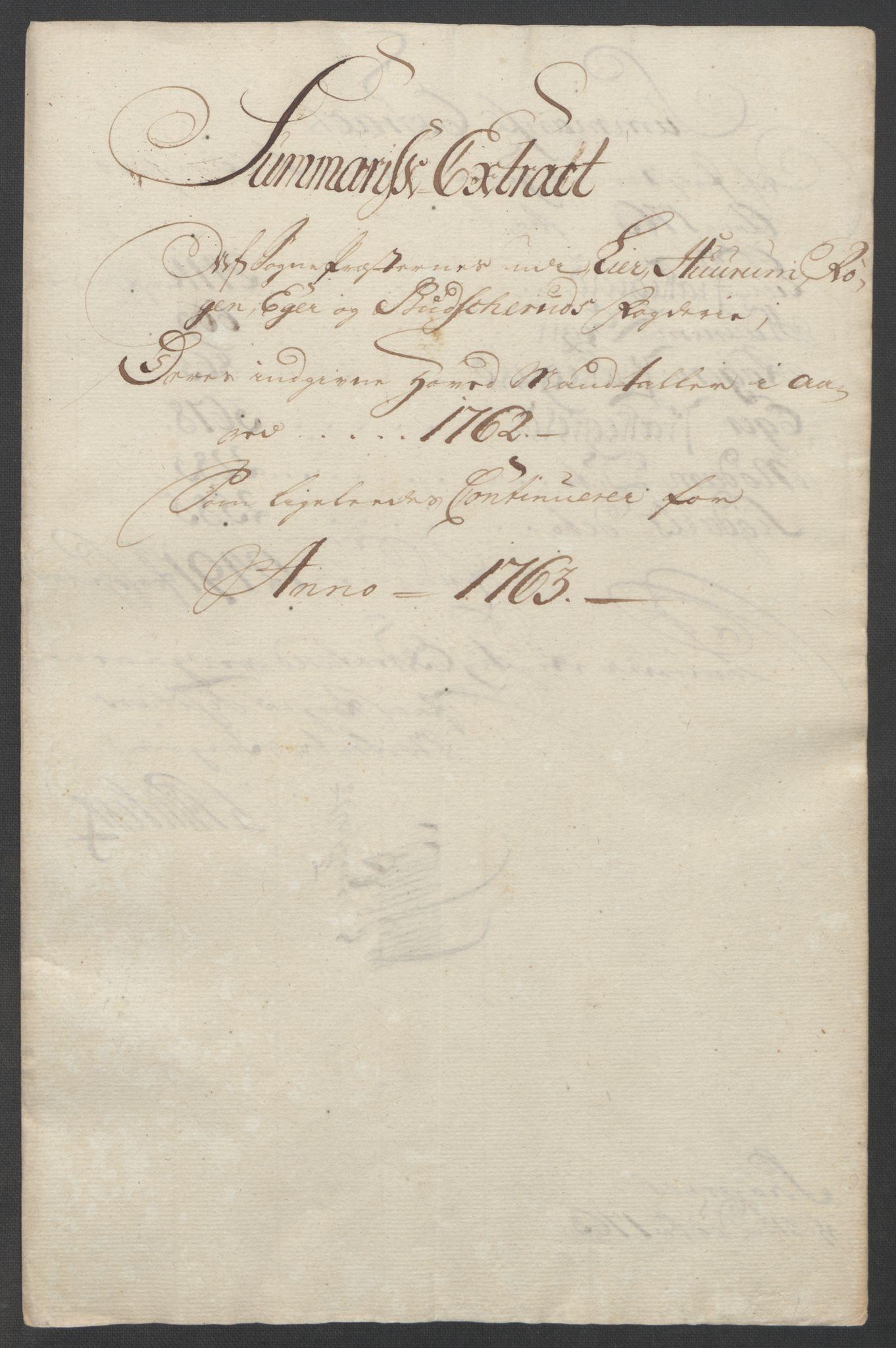 RA, Rentekammeret inntil 1814, Reviderte regnskaper, Fogderegnskap, R31/L1833: Ekstraskatten Hurum, Røyken, Eiker, Lier og Buskerud, 1762-1764, s. 62