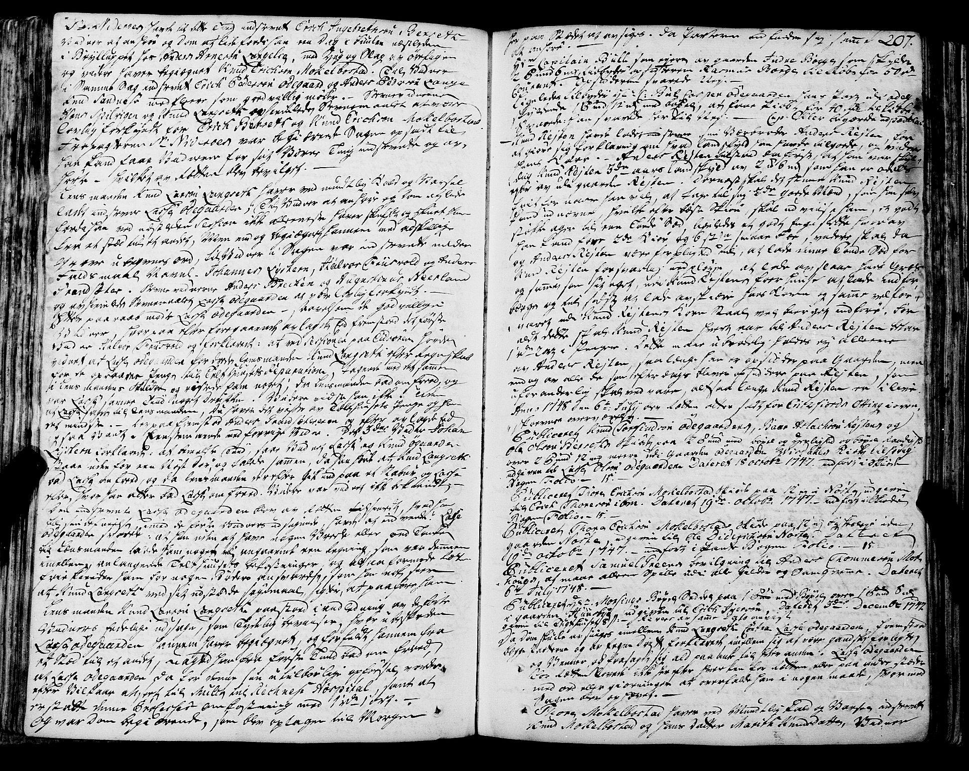 SAT, Romsdal sorenskriveri, 1/1A/L0012: Tingbok, 1740-1749, s. 207b-208a