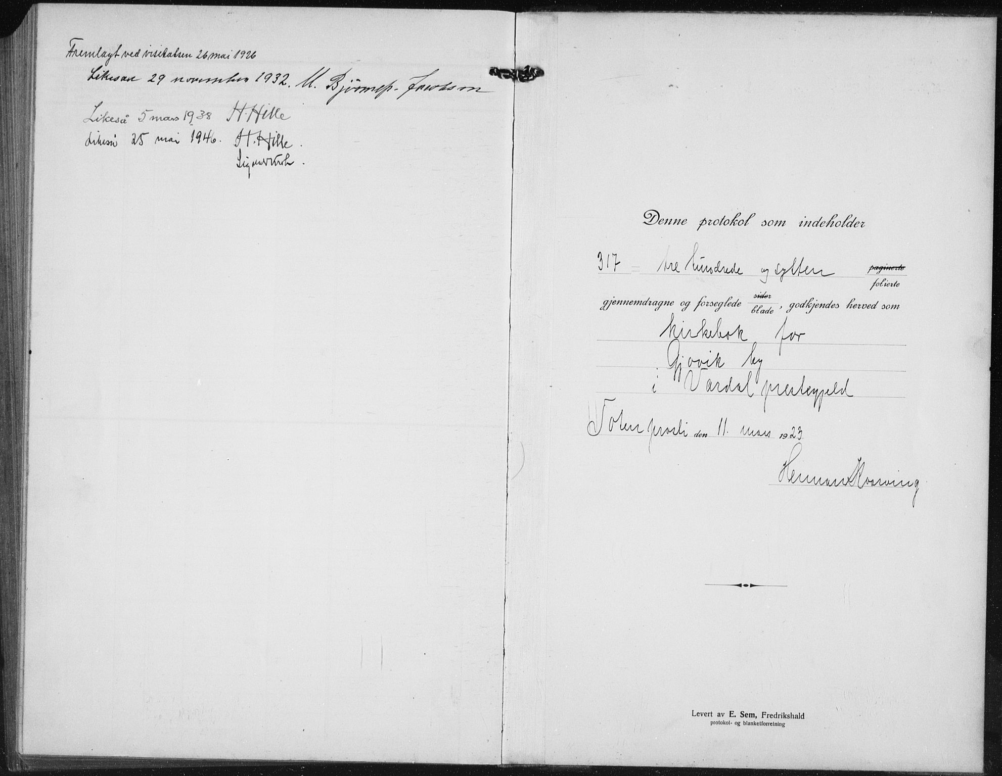 SAH, Vardal prestekontor, H/Ha/Hab/L0017: Klokkerbok nr. 17, 1922-1941