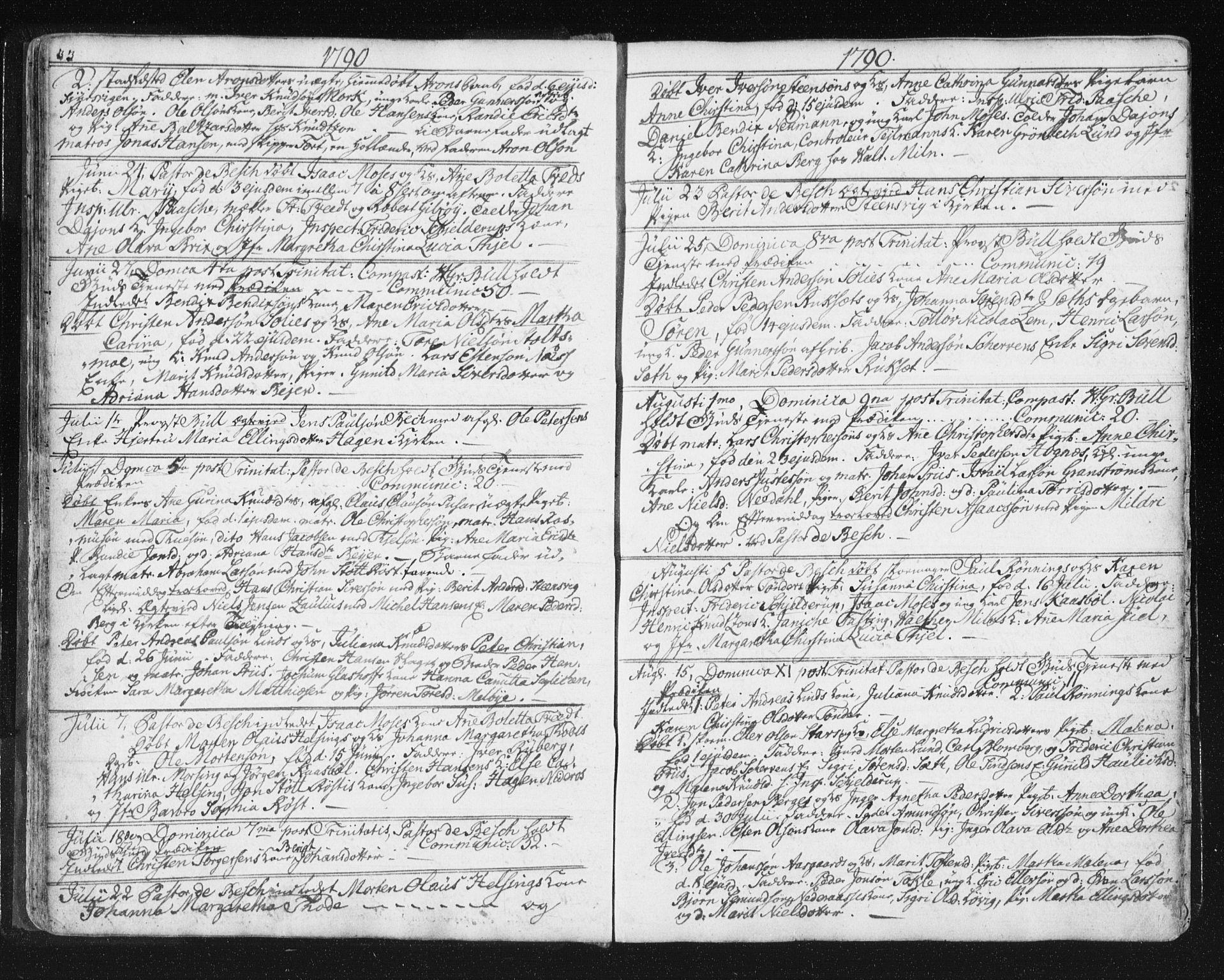 SAT, Ministerialprotokoller, klokkerbøker og fødselsregistre - Møre og Romsdal, 572/L0841: Ministerialbok nr. 572A04, 1784-1819, s. 33