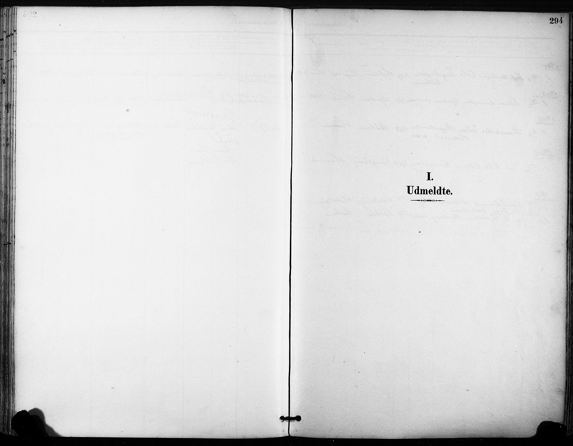 SAT, Ministerialprotokoller, klokkerbøker og fødselsregistre - Sør-Trøndelag, 630/L0497: Ministerialbok nr. 630A10, 1896-1910, s. 294