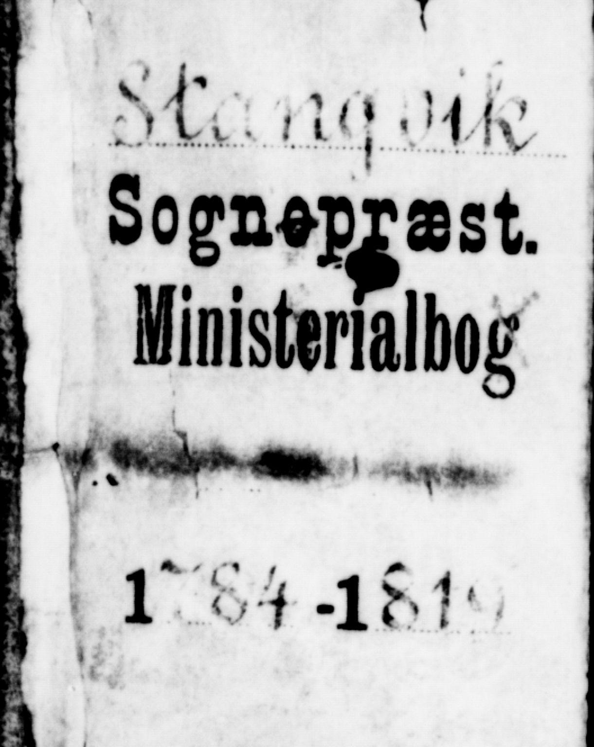 SAT, Ministerialprotokoller, klokkerbøker og fødselsregistre - Møre og Romsdal, 592/L1022: Ministerialbok nr. 592A01, 1784-1819
