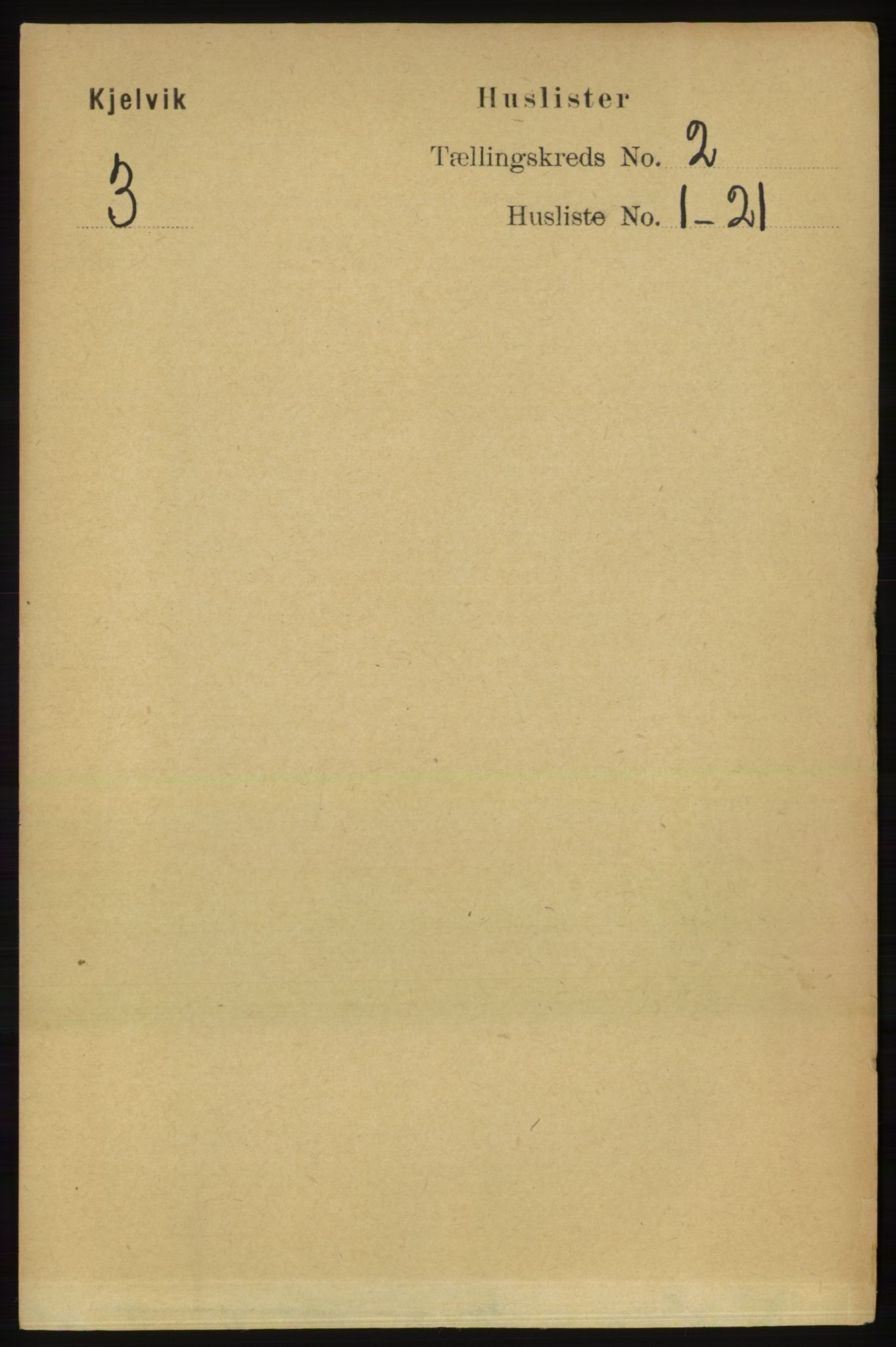 RA, Folketelling 1891 for 2019 Kjelvik herred, 1891, s. 78