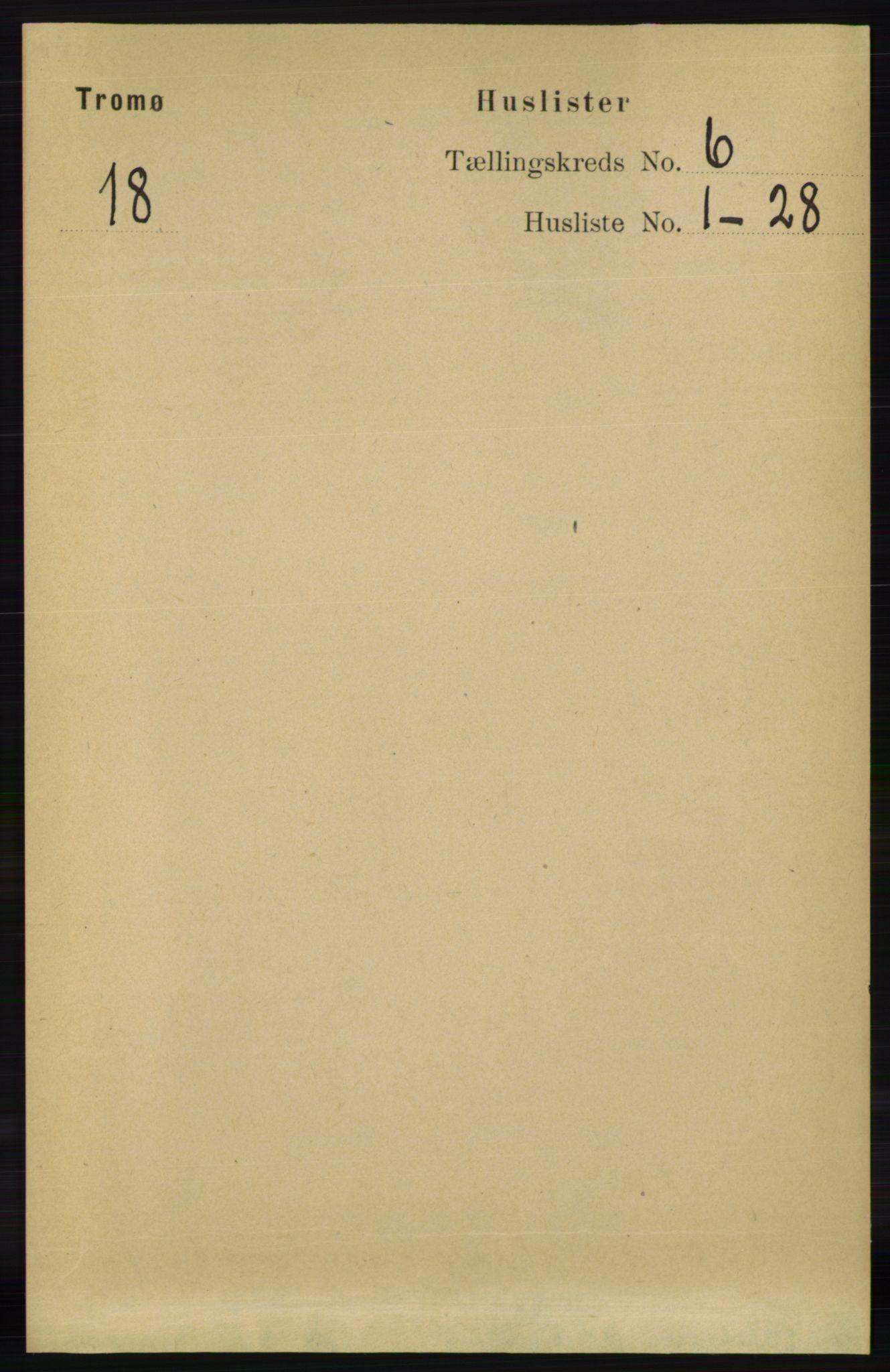 RA, Folketelling 1891 for 0921 Tromøy herred, 1891, s. 2835