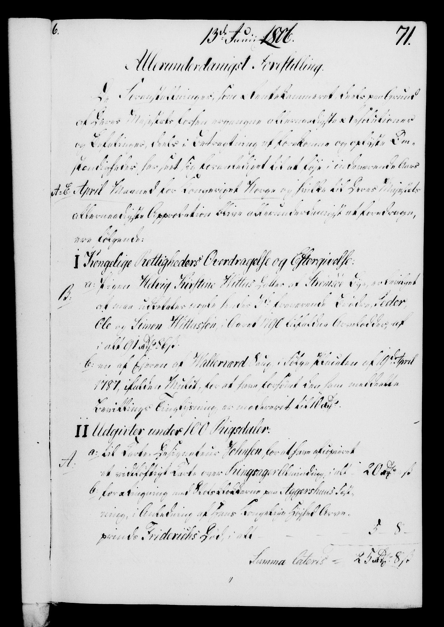 RA, Rentekammeret, Kammerkanselliet, G/Gf/Gfa/L0088: Norsk relasjons- og resolusjonsprotokoll (merket RK 52.88), 1806, s. 418