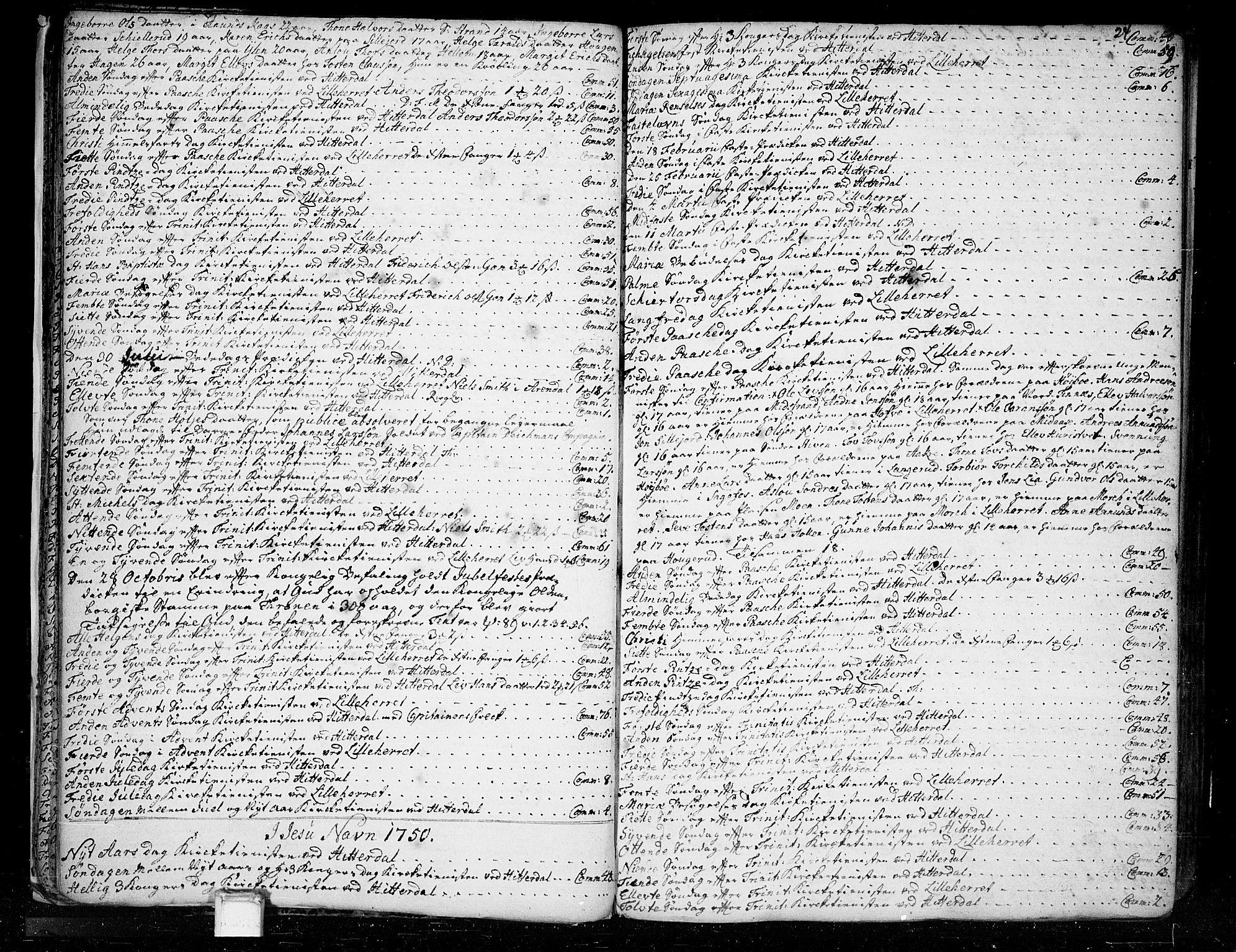 SAKO, Heddal kirkebøker, F/Fa/L0003: Ministerialbok nr. I 3, 1723-1783, s. 24