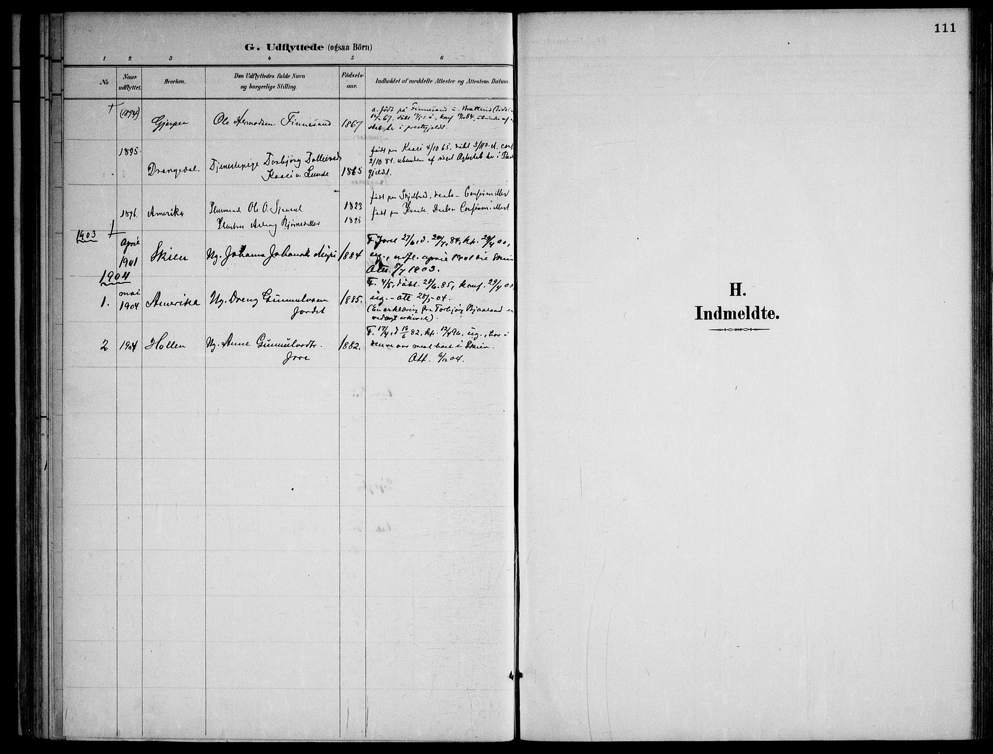 SAKO, Lårdal kirkebøker, F/Fa/L0007: Ministerialbok nr. I 7, 1887-1906, s. 111