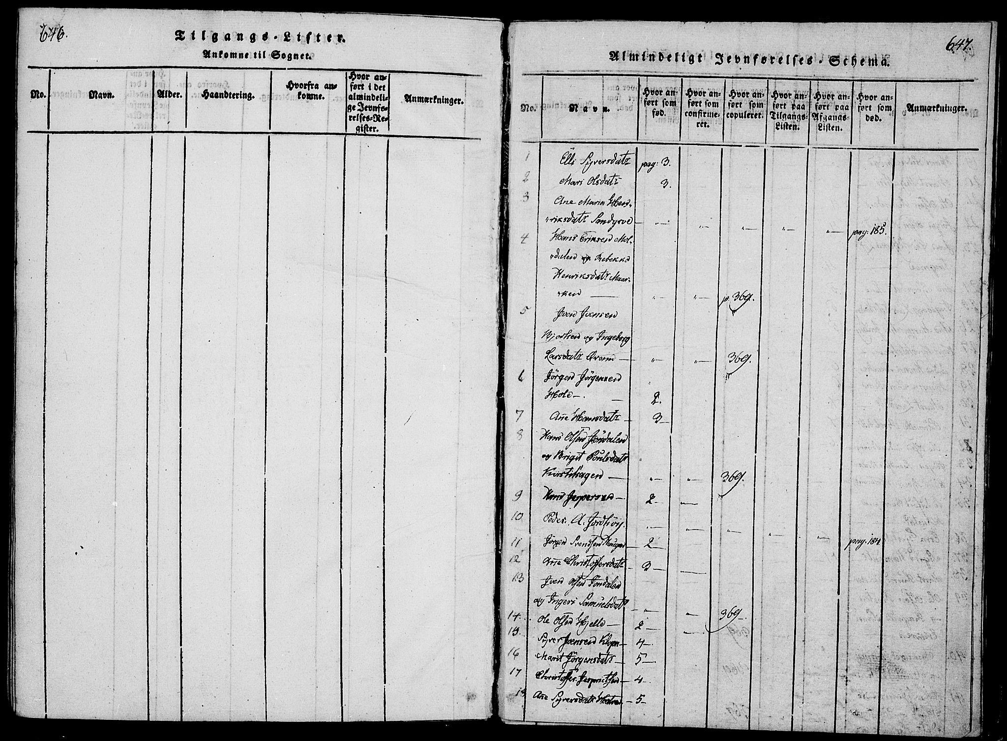 SAH, Lesja prestekontor, Ministerialbok nr. 4, 1820-1829, s. 646-647