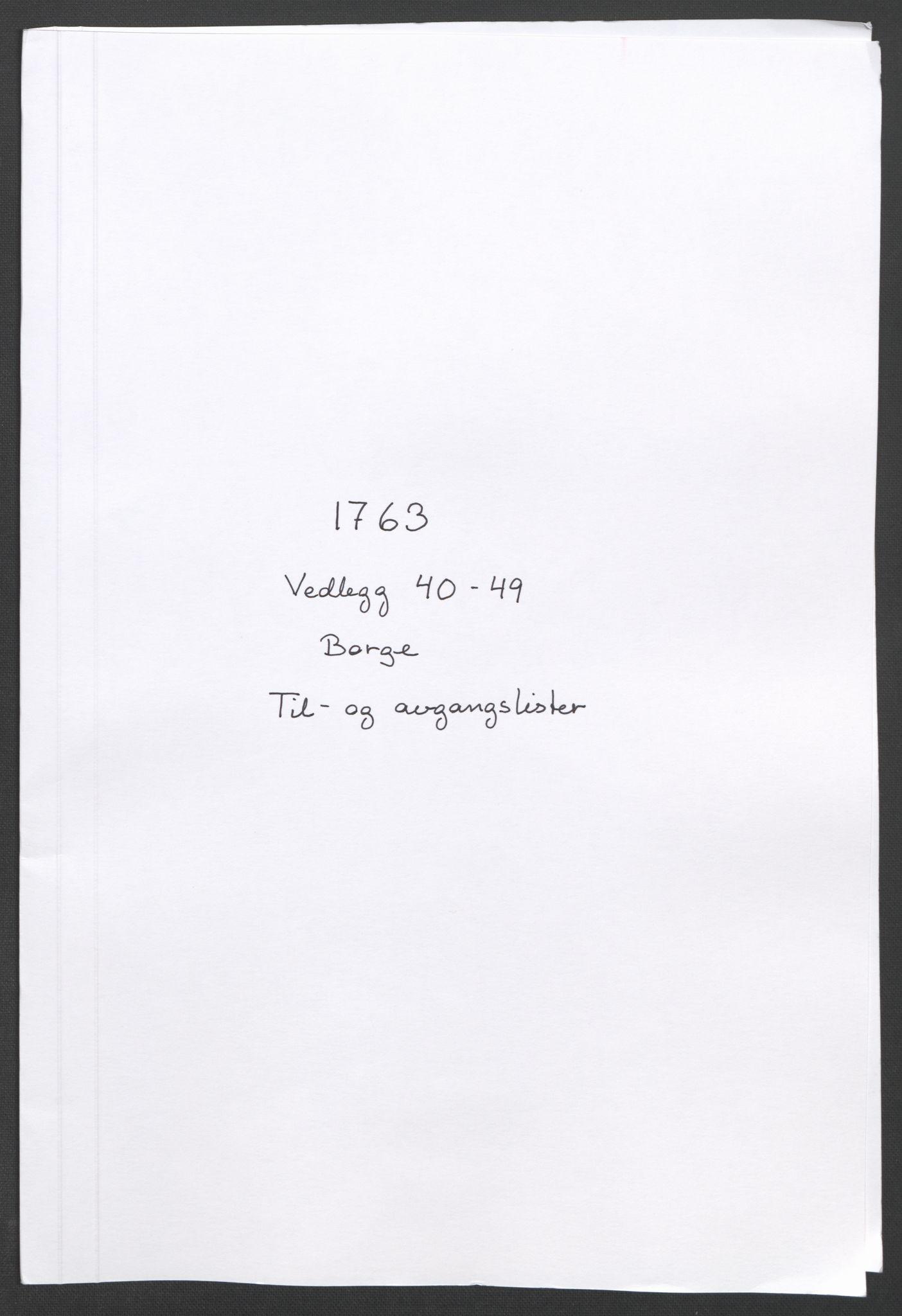 RA, Rentekammeret inntil 1814, Reviderte regnskaper, Fogderegnskap, R04/L0261: Ekstraskatten Moss, Onsøy, Tune, Veme og Åbygge, 1763, s. 124