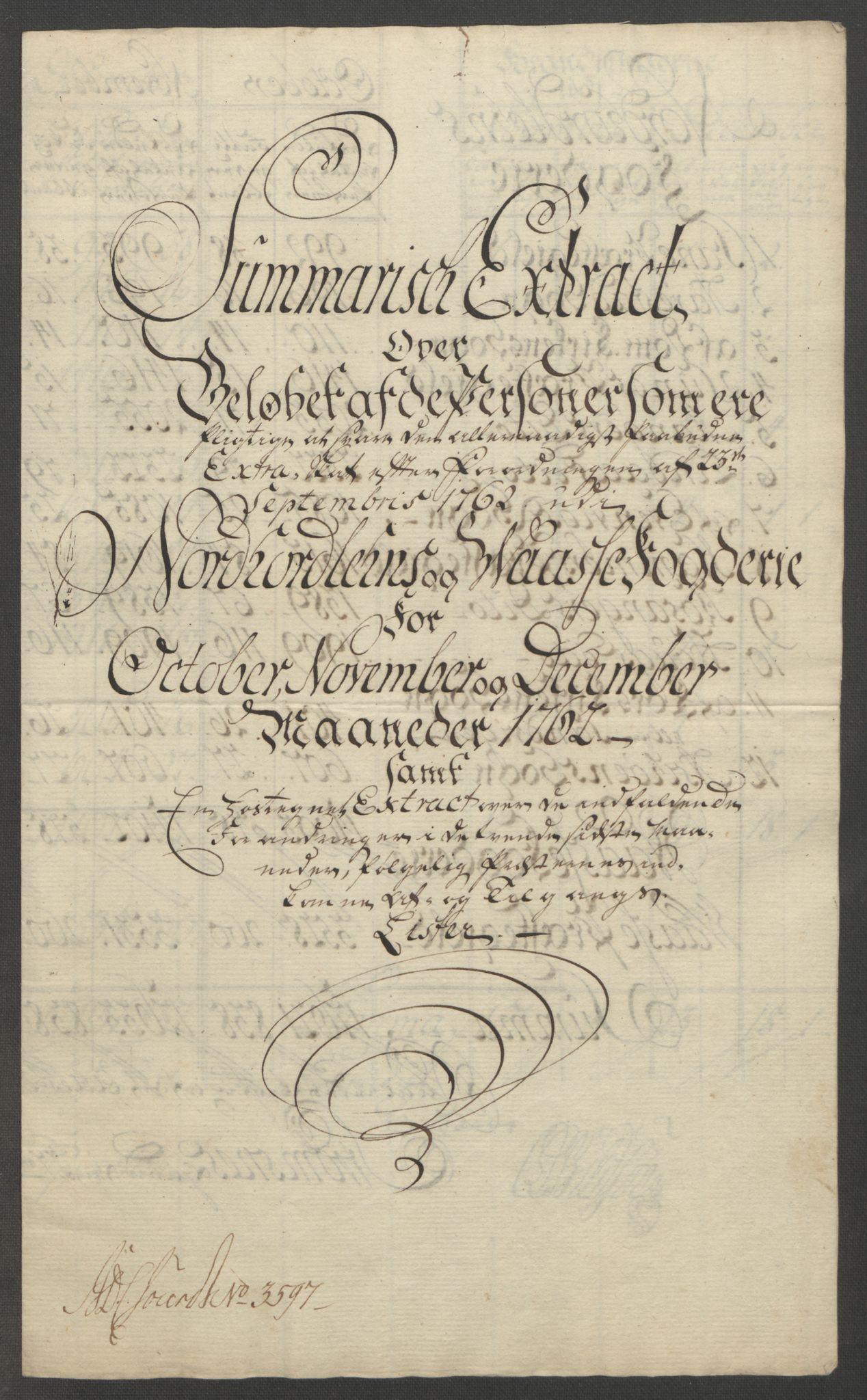 RA, Rentekammeret inntil 1814, Reviderte regnskaper, Fogderegnskap, R51/L3303: Ekstraskatten Nordhordland og Voss, 1762-1772, s. 11