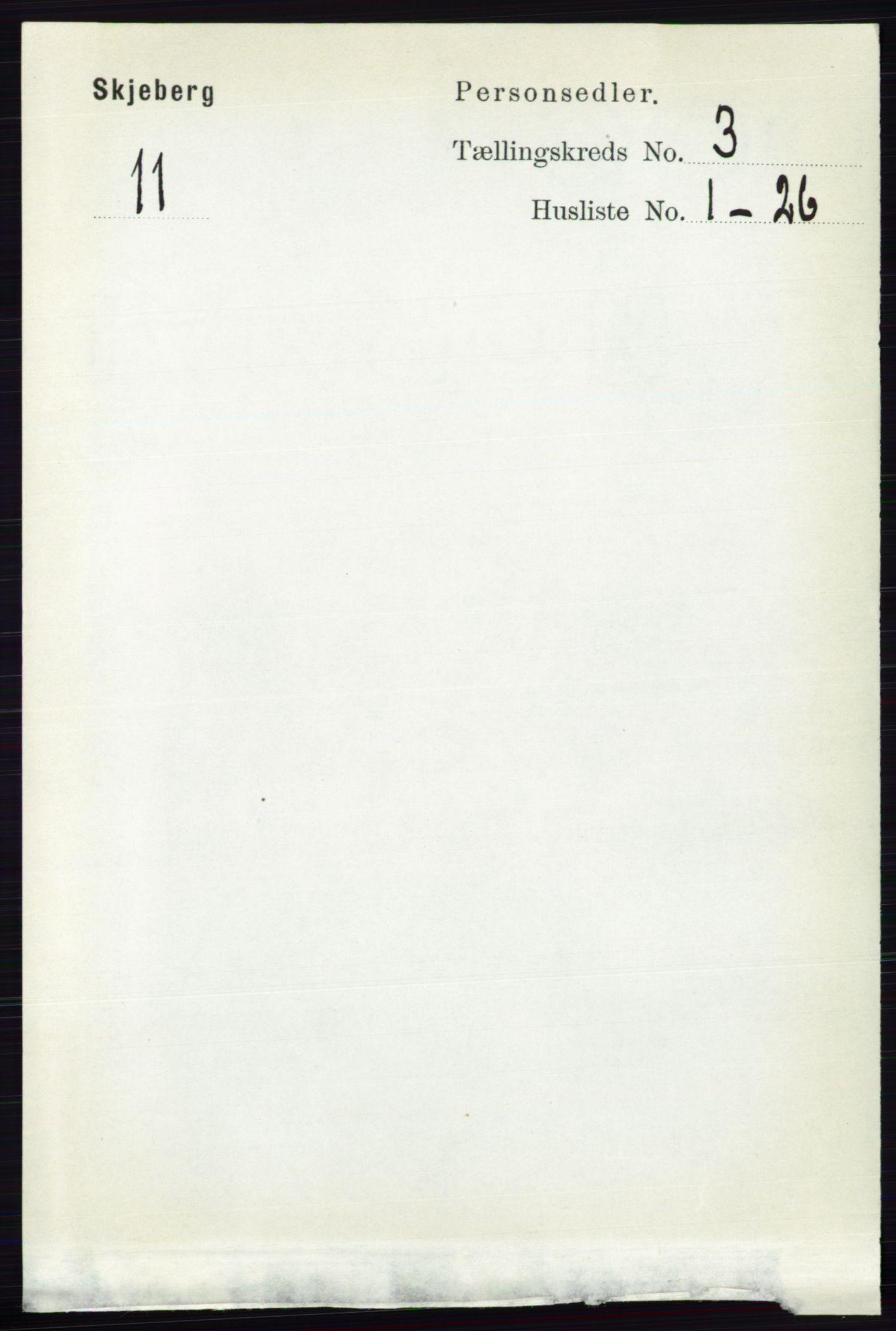 RA, Folketelling 1891 for 0115 Skjeberg herred, 1891, s. 1487