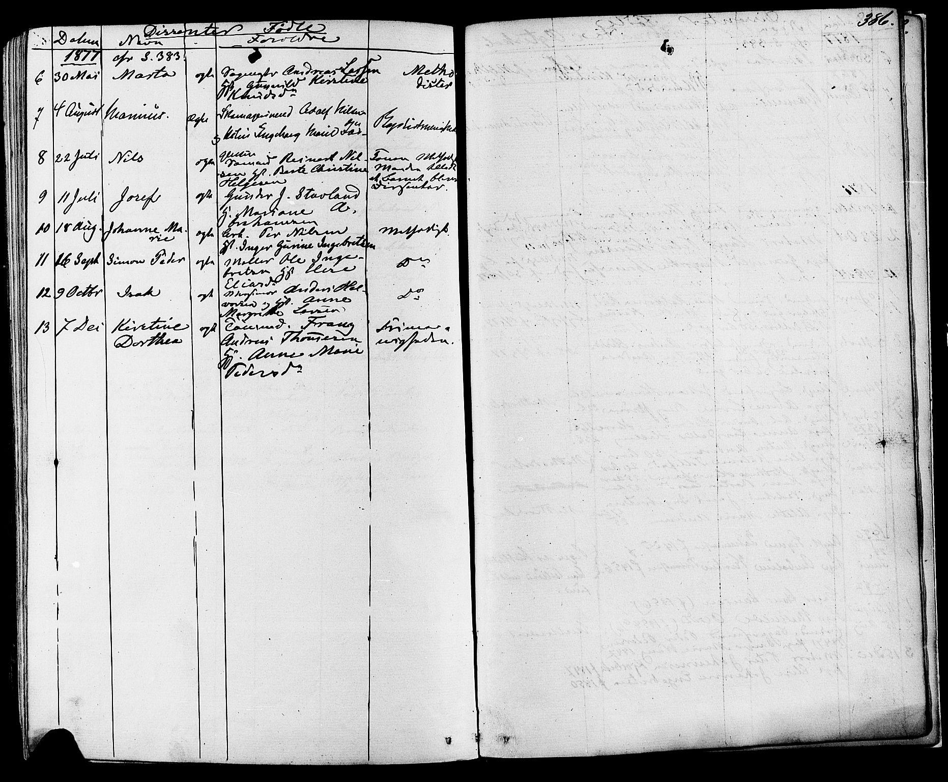 SAKO, Skien kirkebøker, F/Fa/L0008: Ministerialbok nr. 8, 1866-1877, s. 386