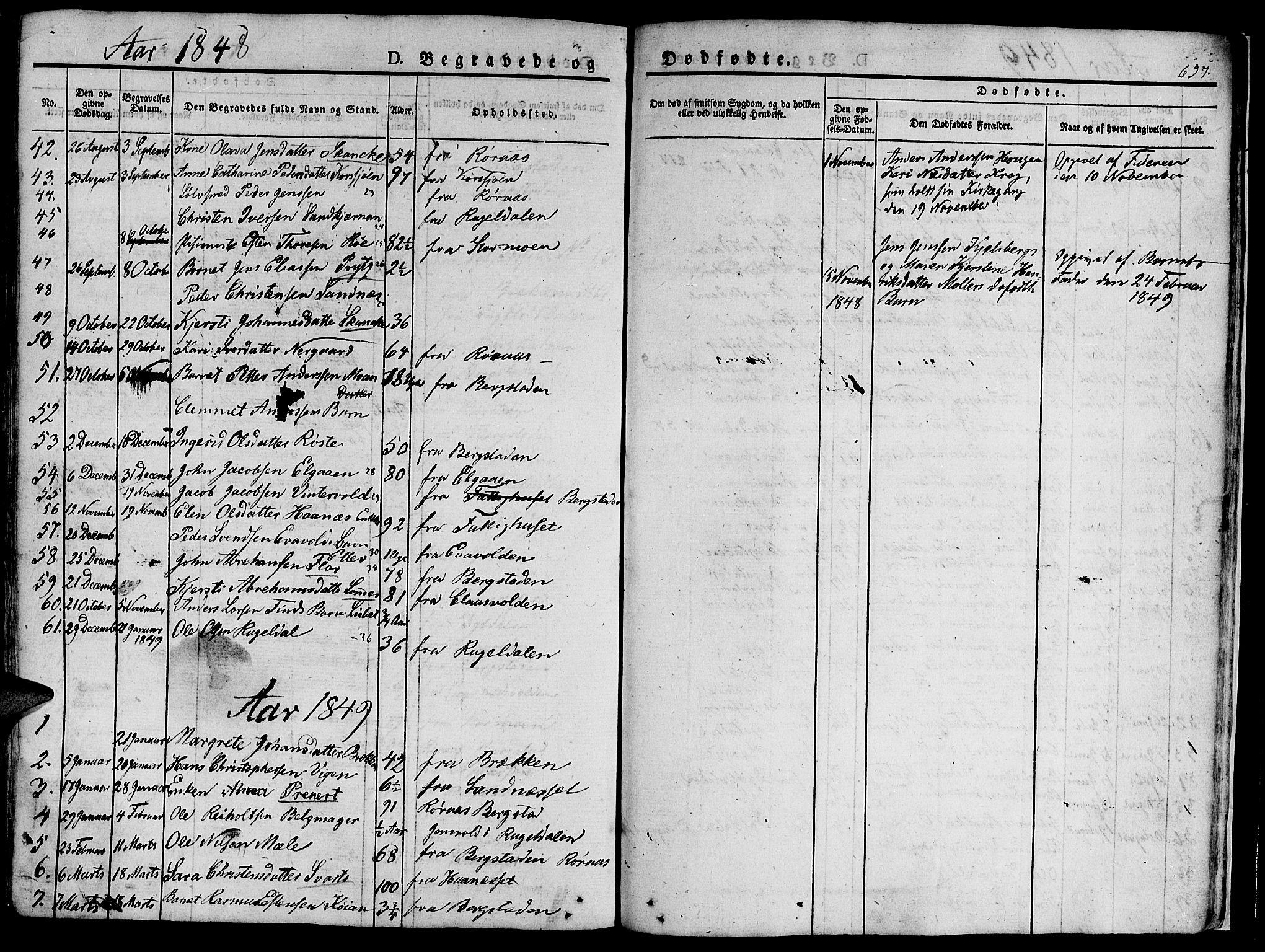 SAT, Ministerialprotokoller, klokkerbøker og fødselsregistre - Sør-Trøndelag, 681/L0939: Klokkerbok nr. 681C03, 1829-1855, s. 657