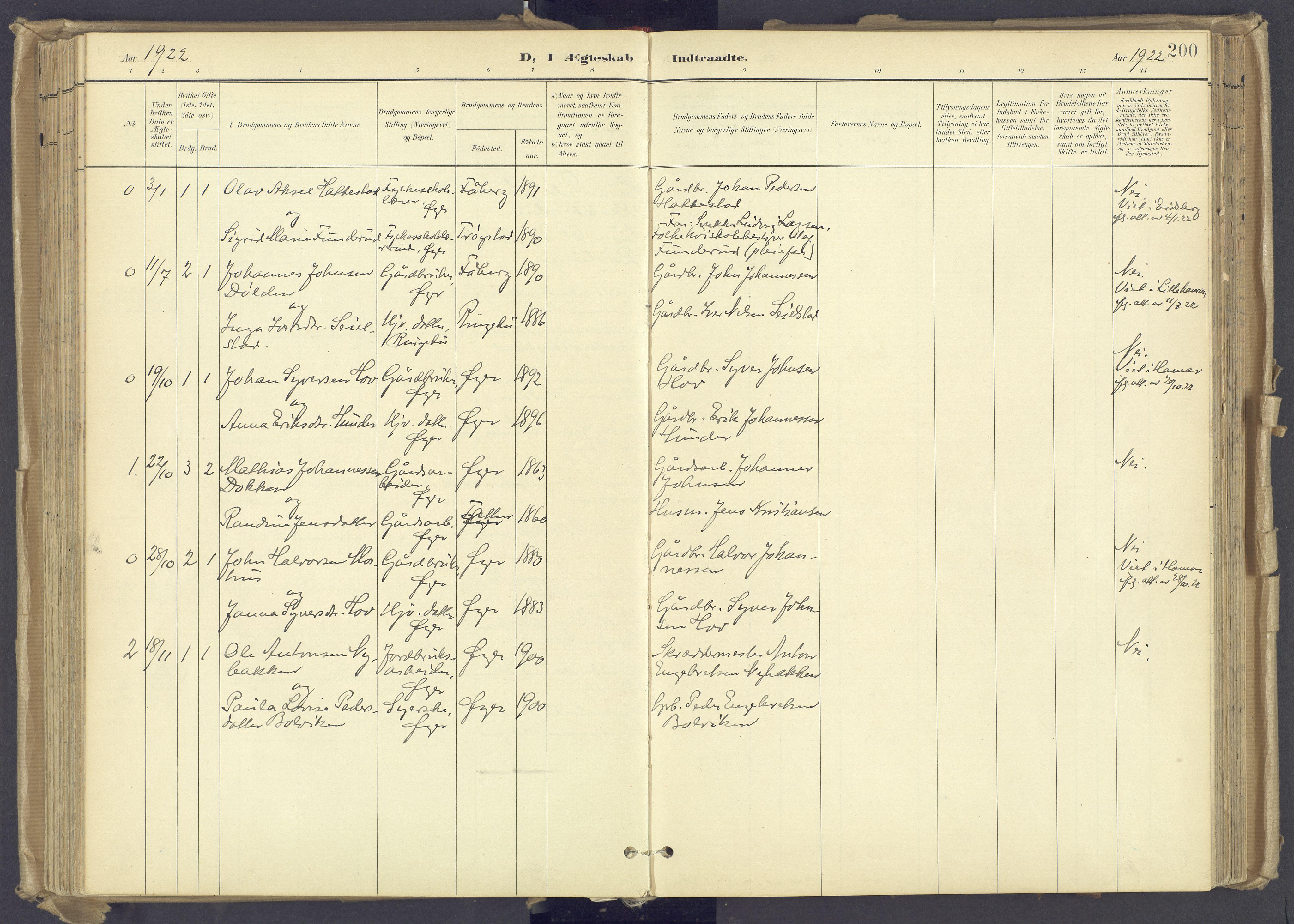 SAH, Øyer prestekontor, Ministerialbok nr. 12, 1897-1920, s. 200