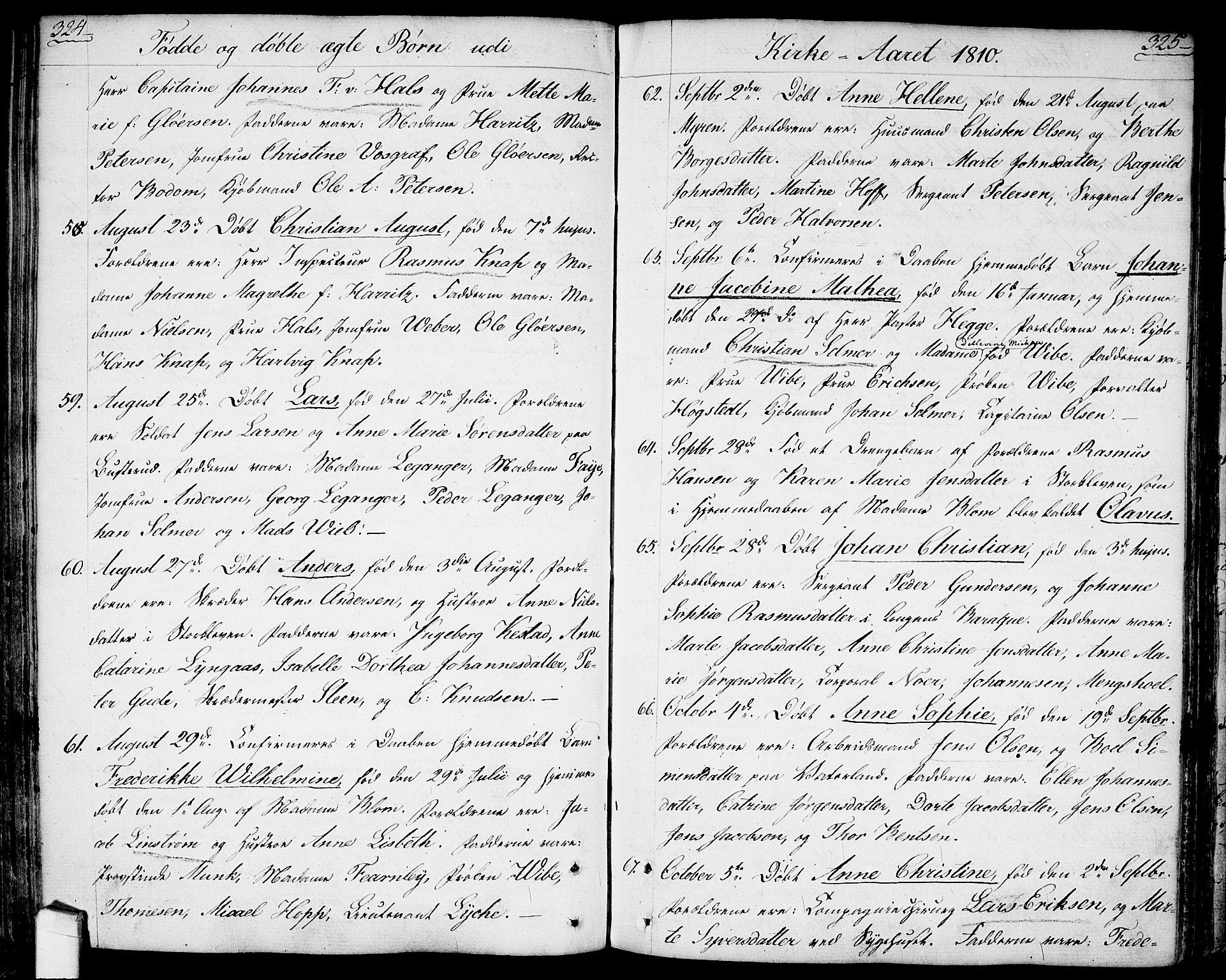 SAO, Halden prestekontor Kirkebøker, F/Fa/L0002: Ministerialbok nr. I 2, 1792-1812, s. 324-325