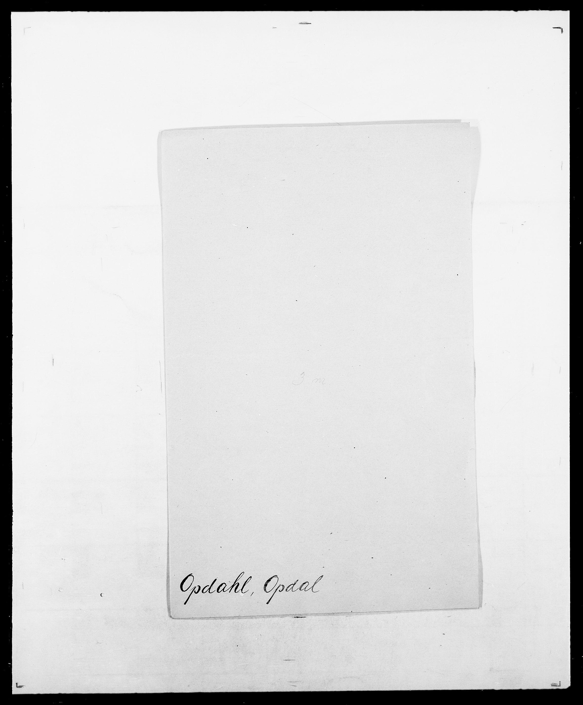 SAO, Delgobe, Charles Antoine - samling, D/Da/L0029: Obel - Oxholm, s. 306