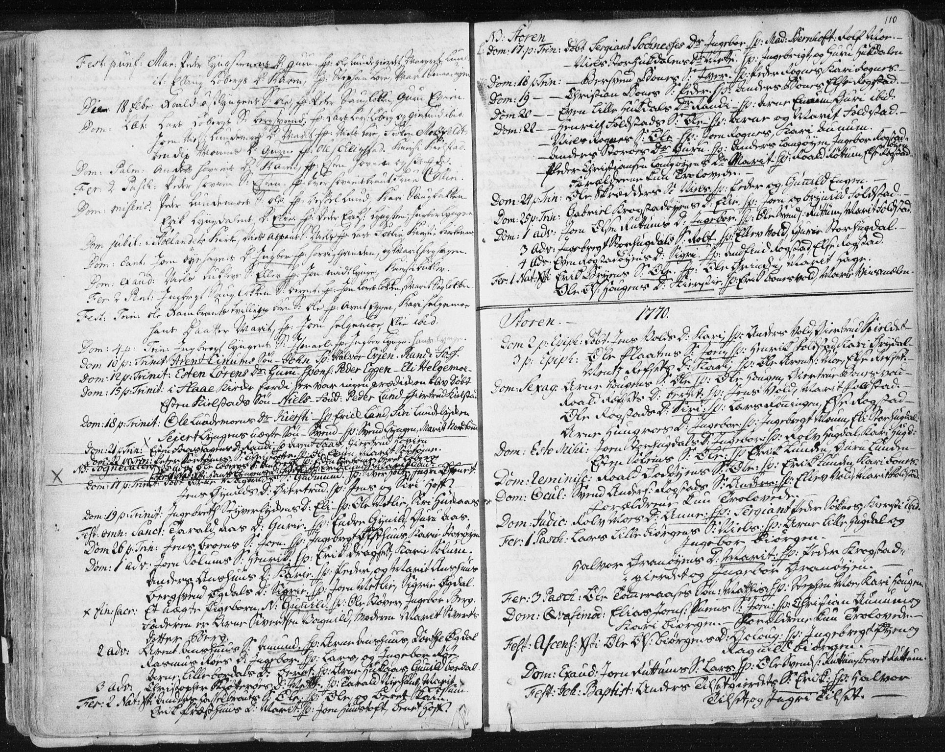 SAT, Ministerialprotokoller, klokkerbøker og fødselsregistre - Sør-Trøndelag, 687/L0991: Ministerialbok nr. 687A02, 1747-1790, s. 110
