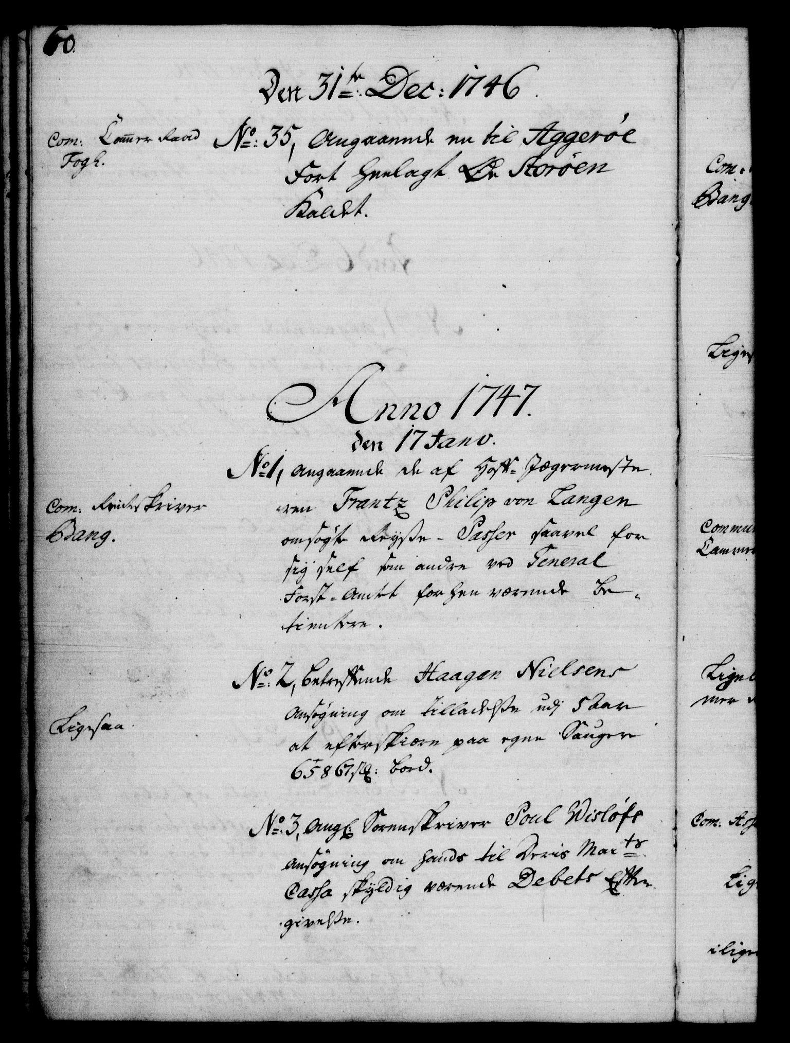 RA, Rentekammeret, Kammerkanselliet, G/Gf/Gfb/L0005: Register til norske relasjons- og resolusjonsprotokoller (merket RK 52.100), 1744-1754, s. 60