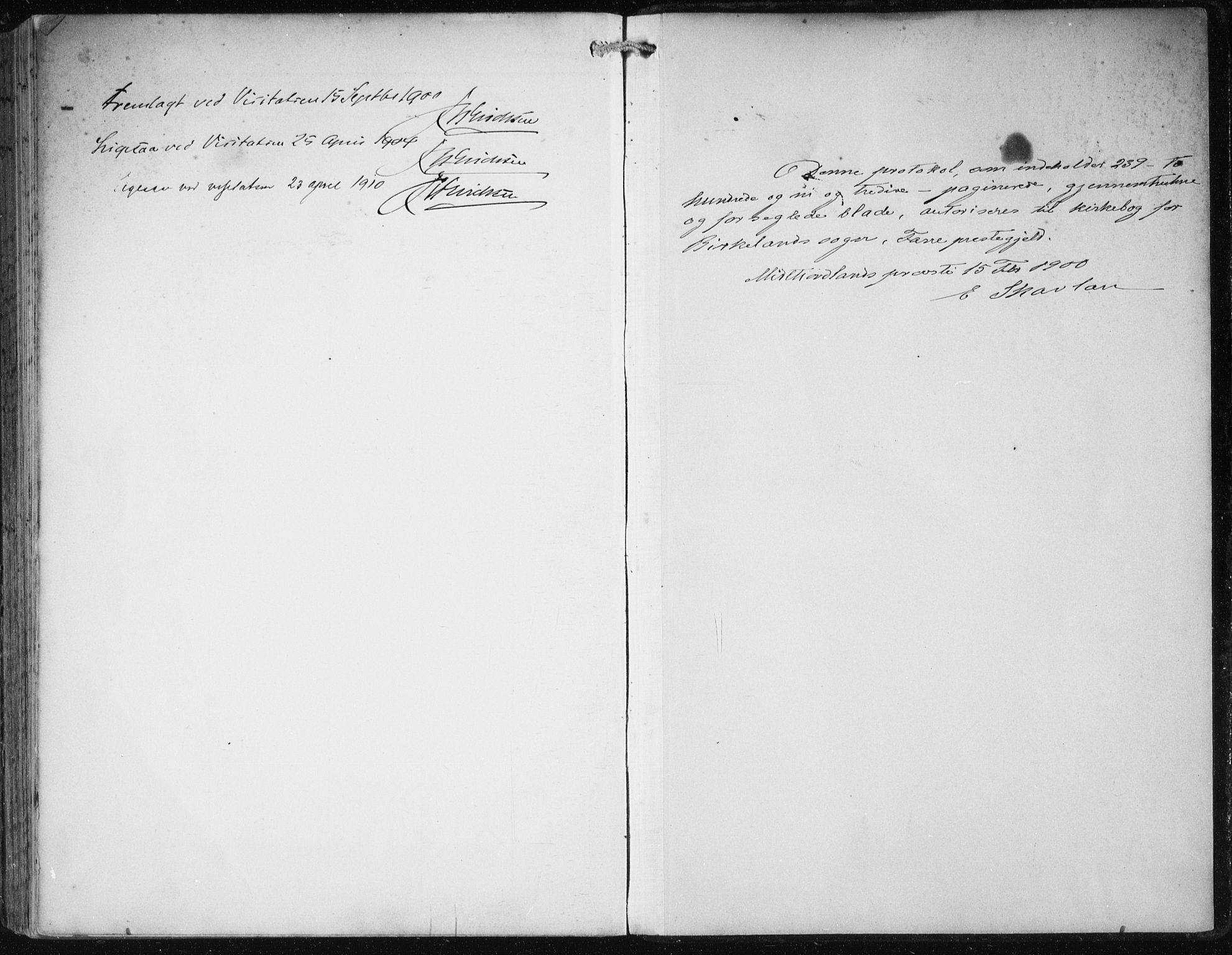 SAB, Fana Sokneprestembete, H/Haa/Haai/L0003: Ministerialbok nr. I 3, 1900-1912